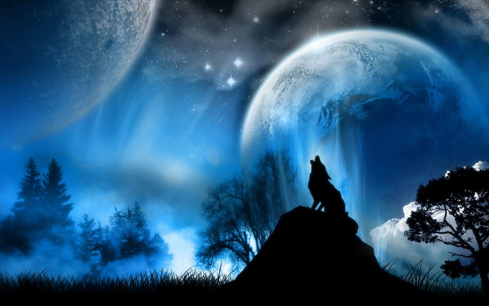 cool backgrounds | moon wolves background cool wallpaper images