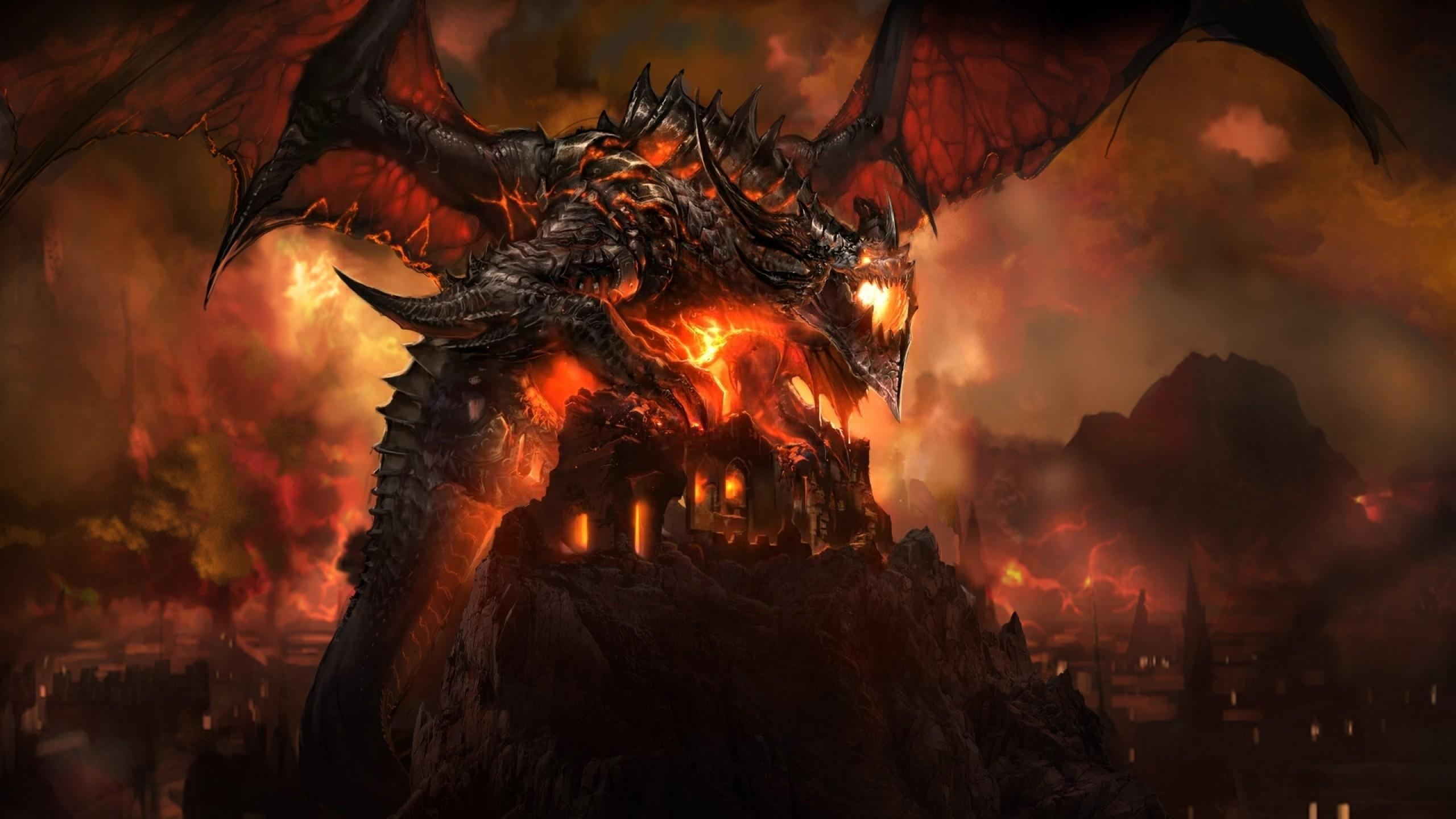 cool fire dragons wallpaper - 1413282