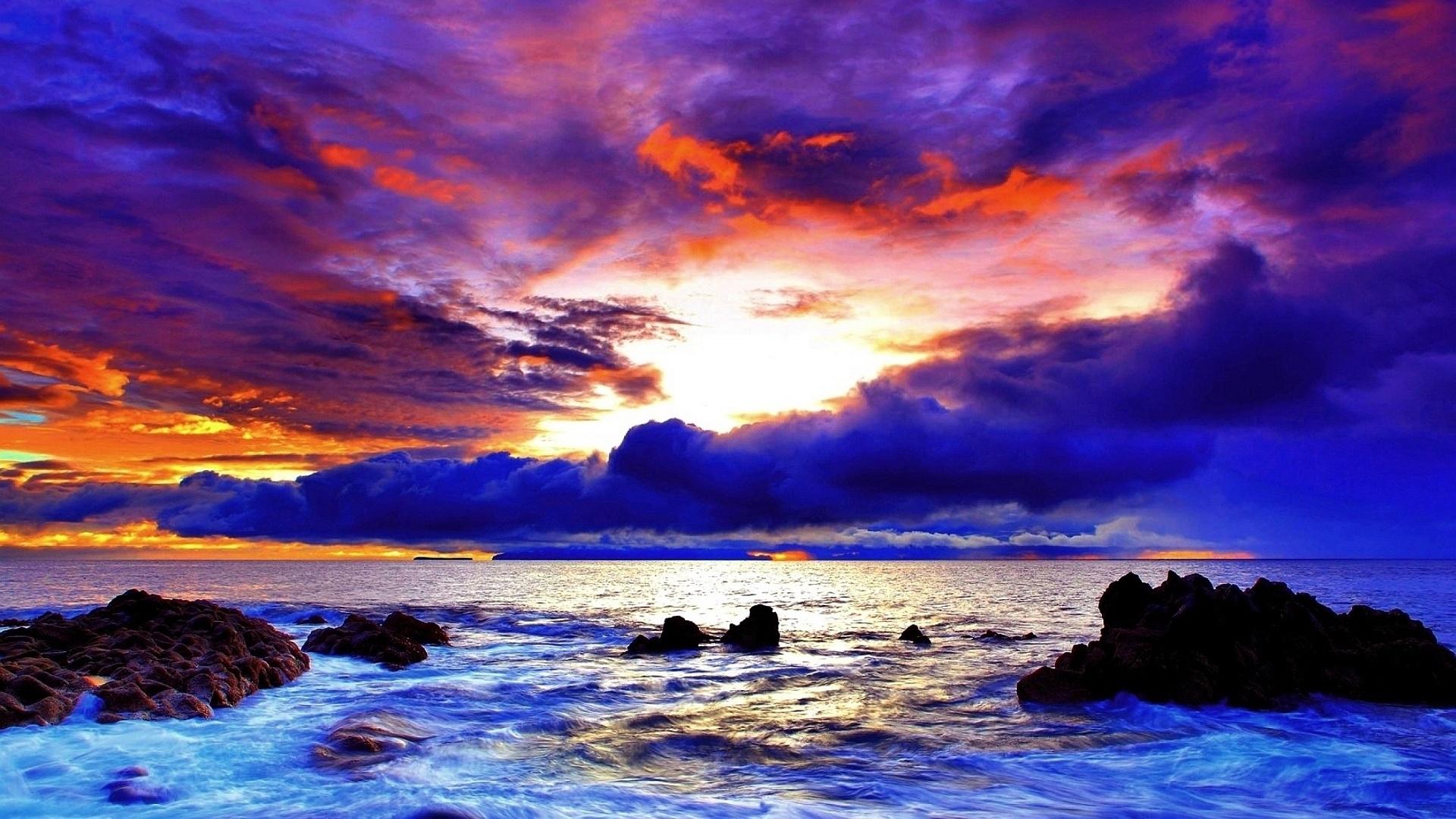 coucher de soleil fond d'écran hd hd