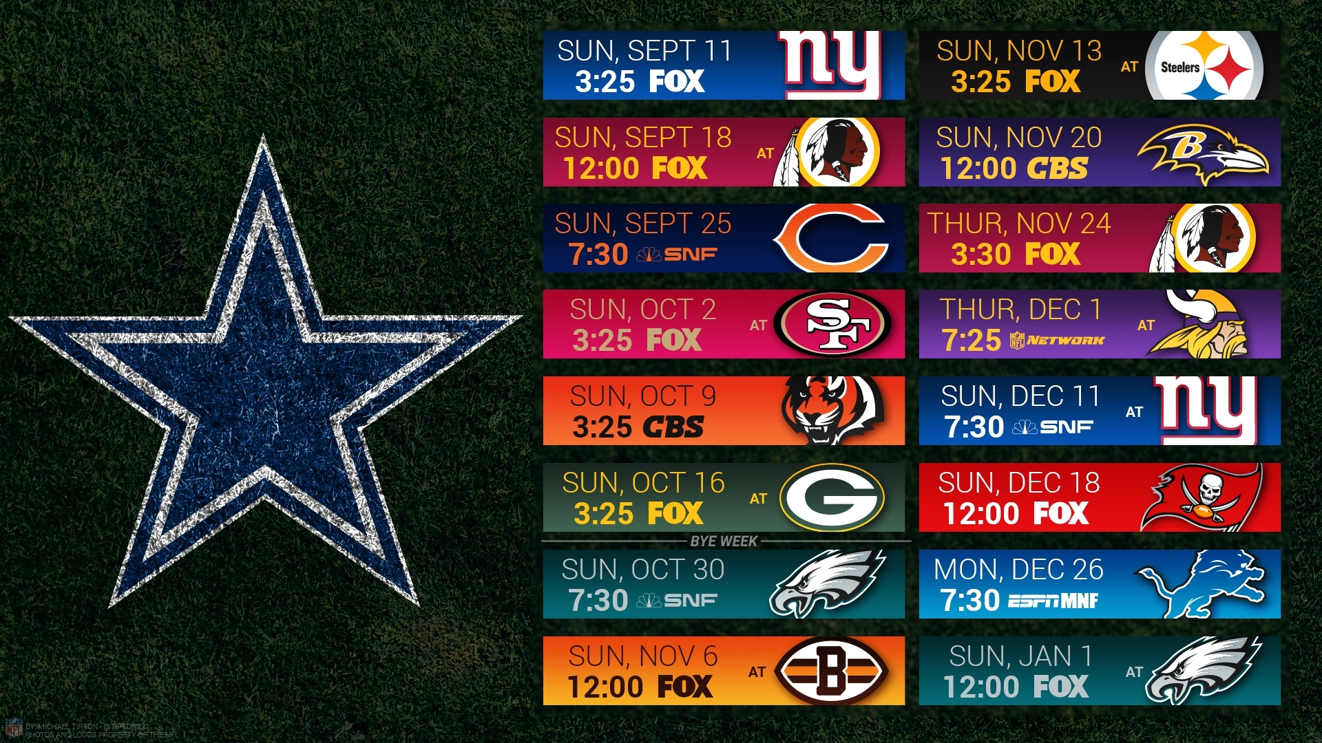 cowboys schedule wallpaper
