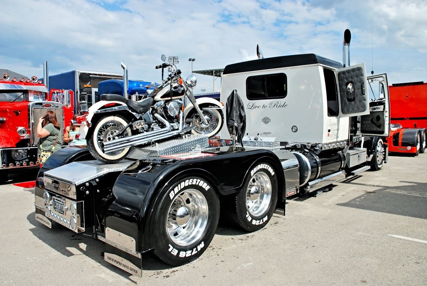 custom big rigs, trucks, custom bikes & beautiful babes - youtube