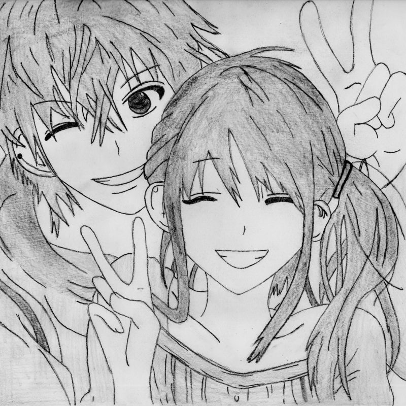 10 Latest Cute Anime Couple Pictures FULL HD 1080p For PC Desktop 2020 free download cute anime love sketch pics pencil sketching of cute couple simple 800x800
