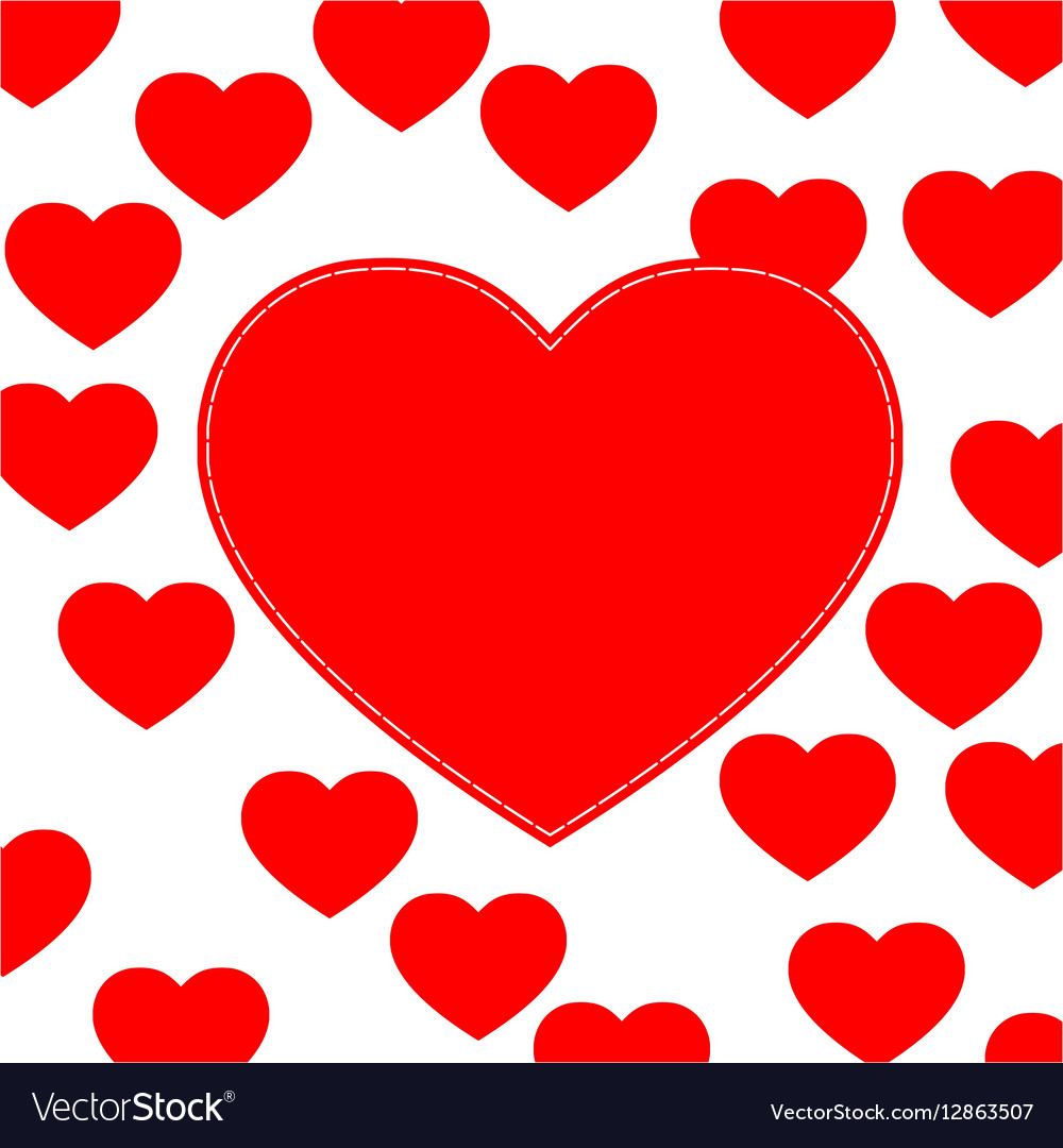 cute love hearts background royalty free vector image