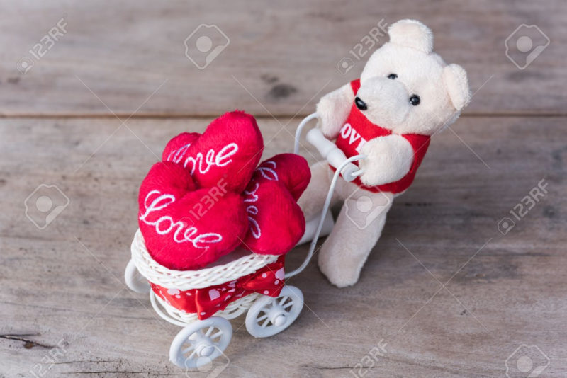 10 Best Cute Love Heart Pictures FULL HD 1920×1080 For PC Background 2020 free download cute teddy bear carry love heart items with white bicycle on stock 800x534