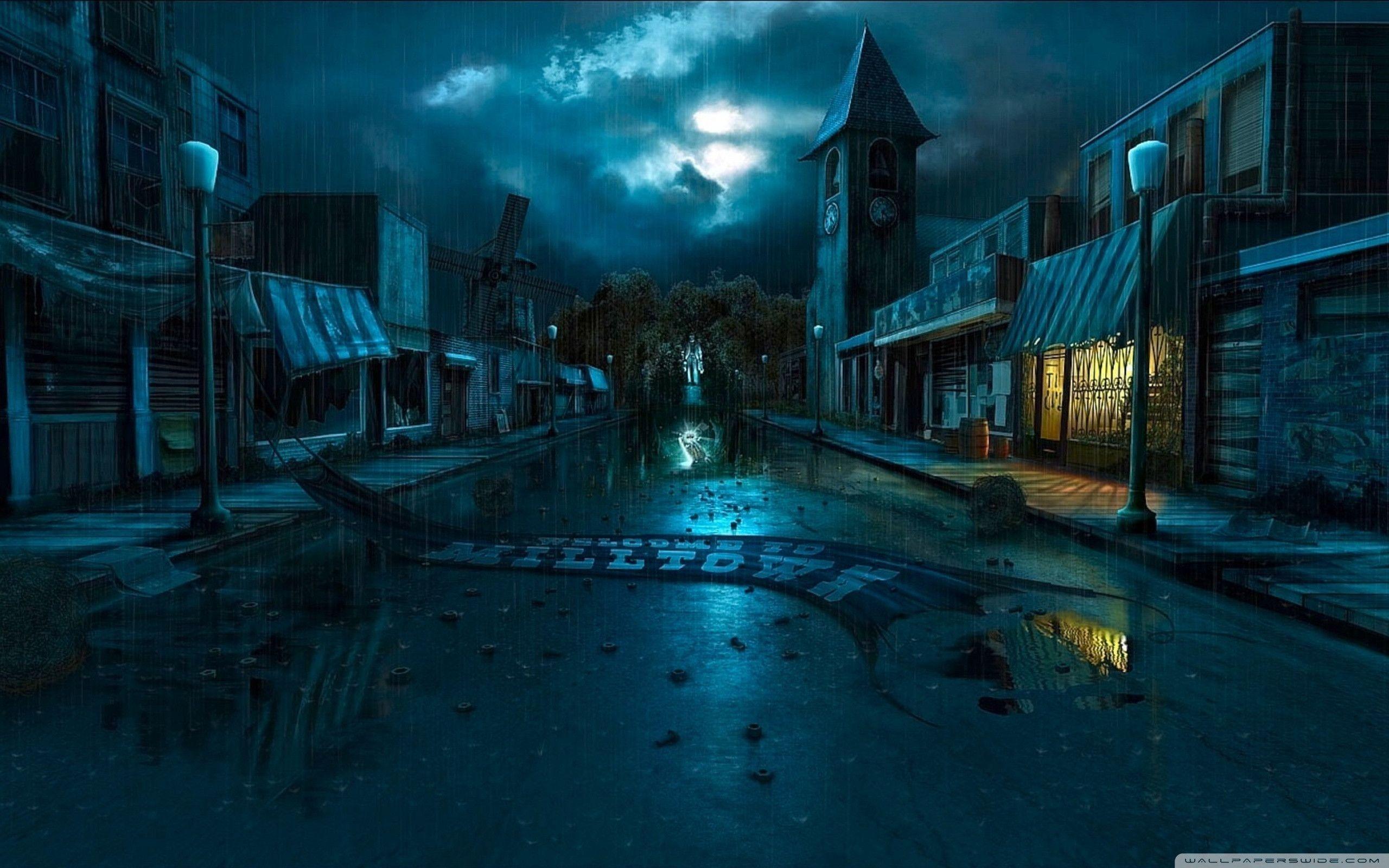 dark city street background 9828 | background check all