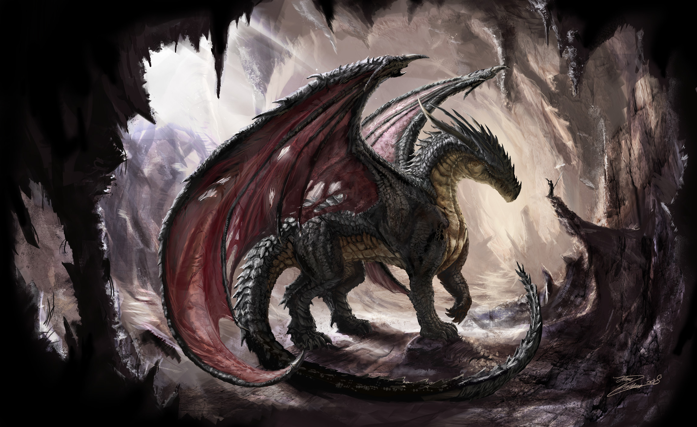 dark dragon hd wallpaper | hintergrund | 2308x1417 | id:199621