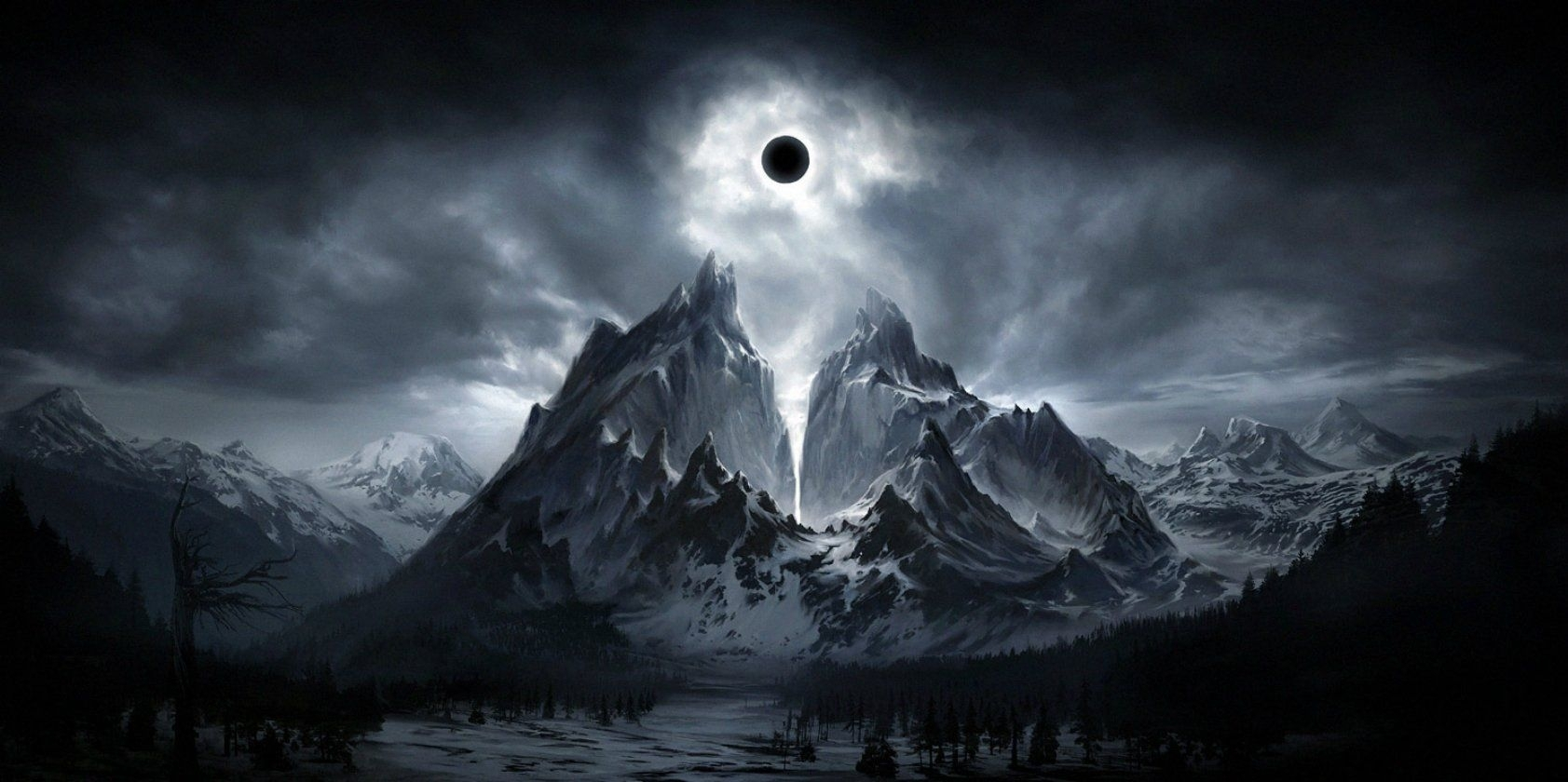 dark moon fantasy wallpaper wallpaper creepy setting | fantasy