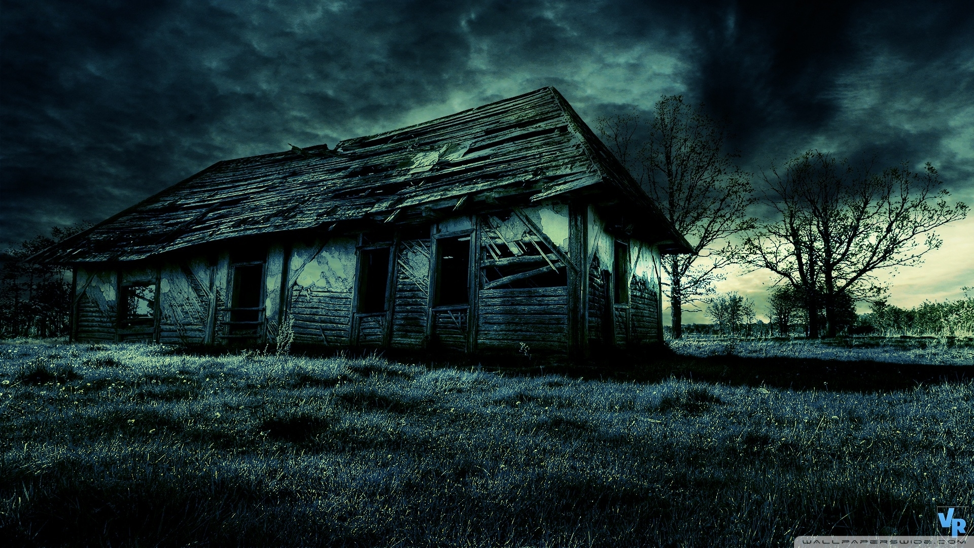 dark old house hd desktop wallpaper widescreen high definition
