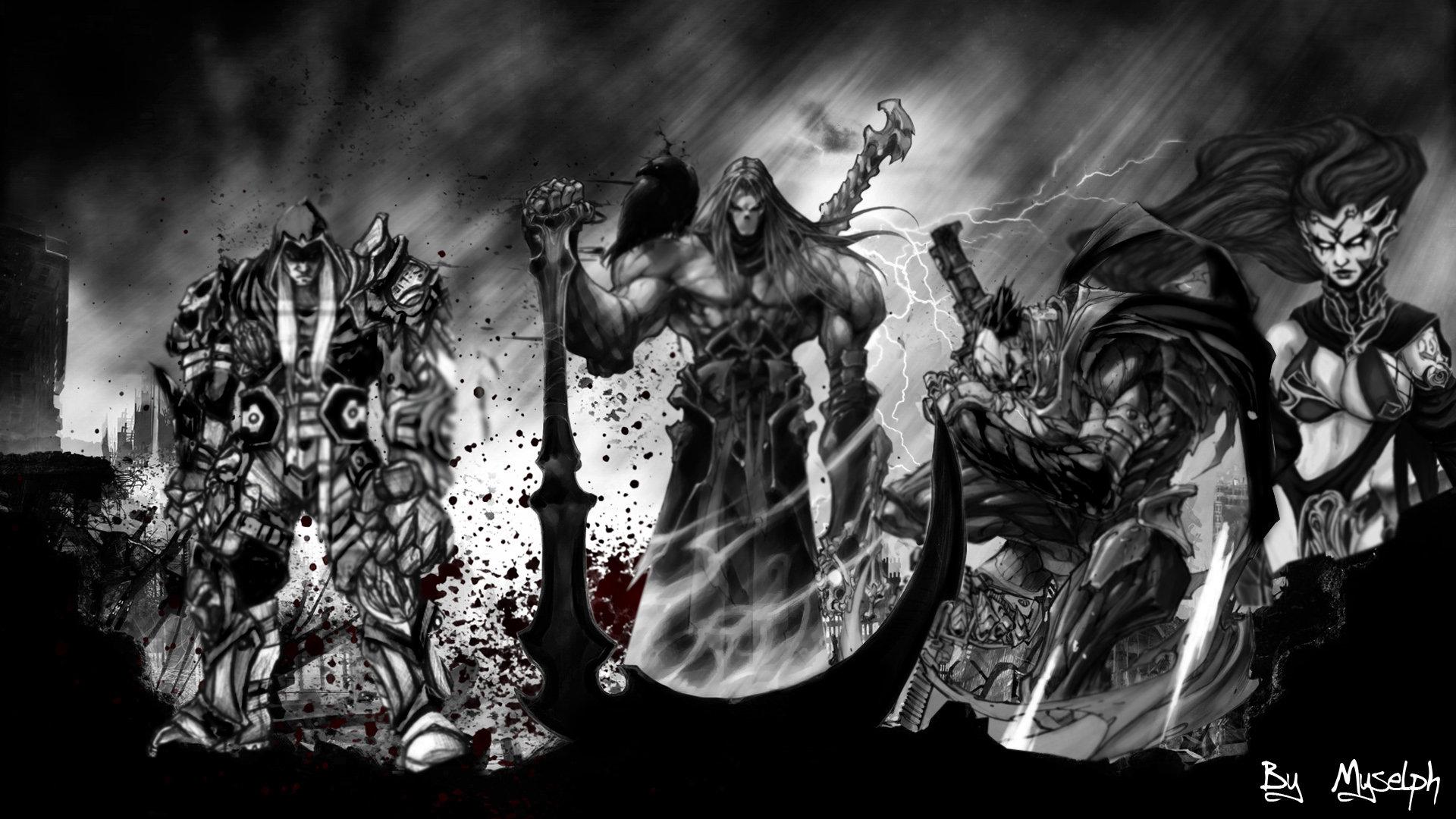 darksiders four horsemen wallpaper - wallpapersafari