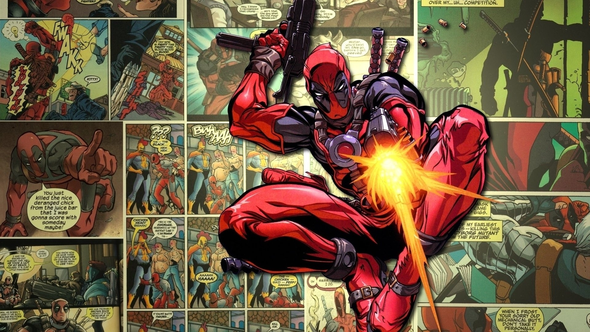 deadpool pop up comic full hd wallpaper and background image
