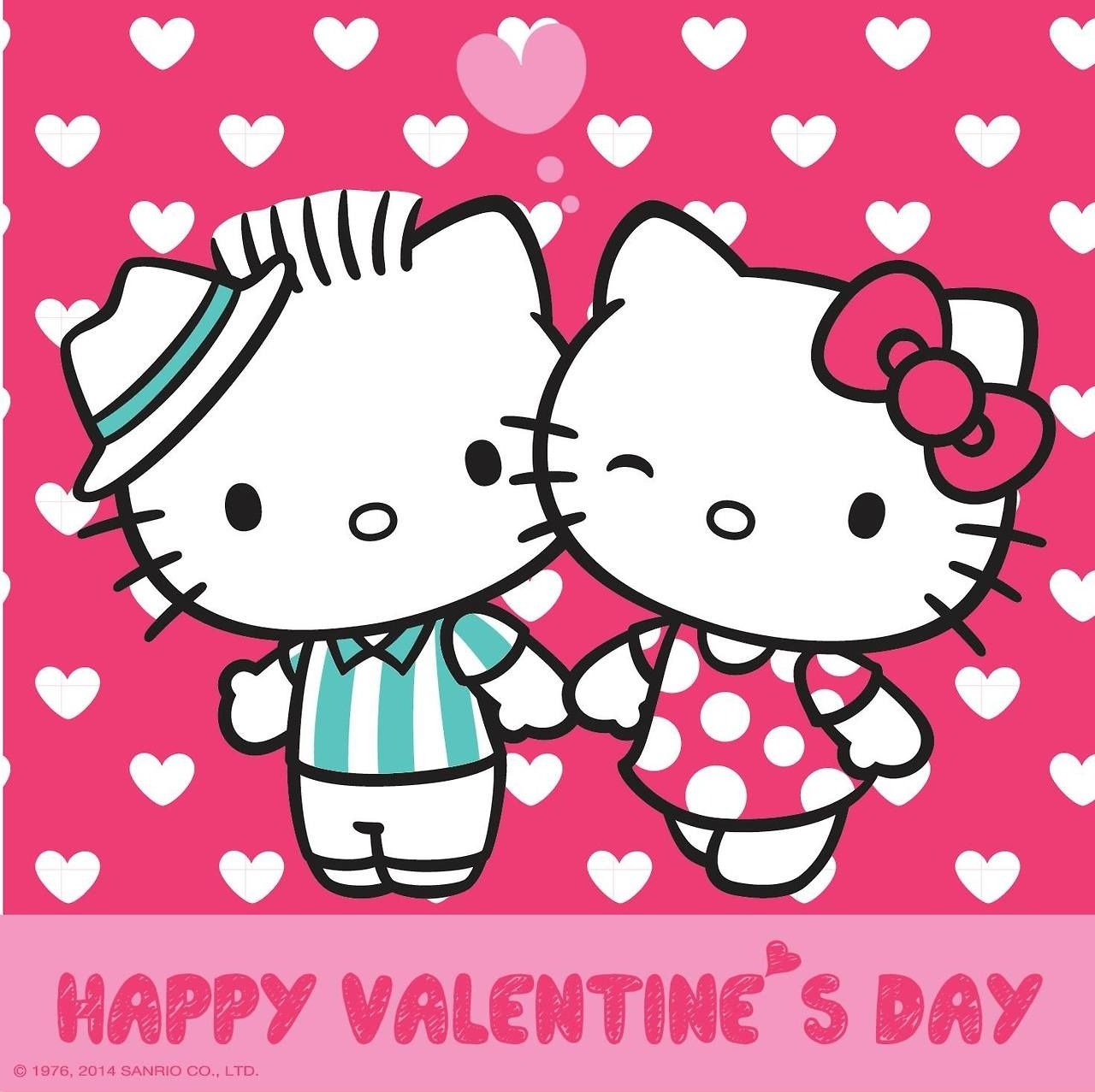 dear daniel and hello kitty on valentine's day (high res) | :: hello