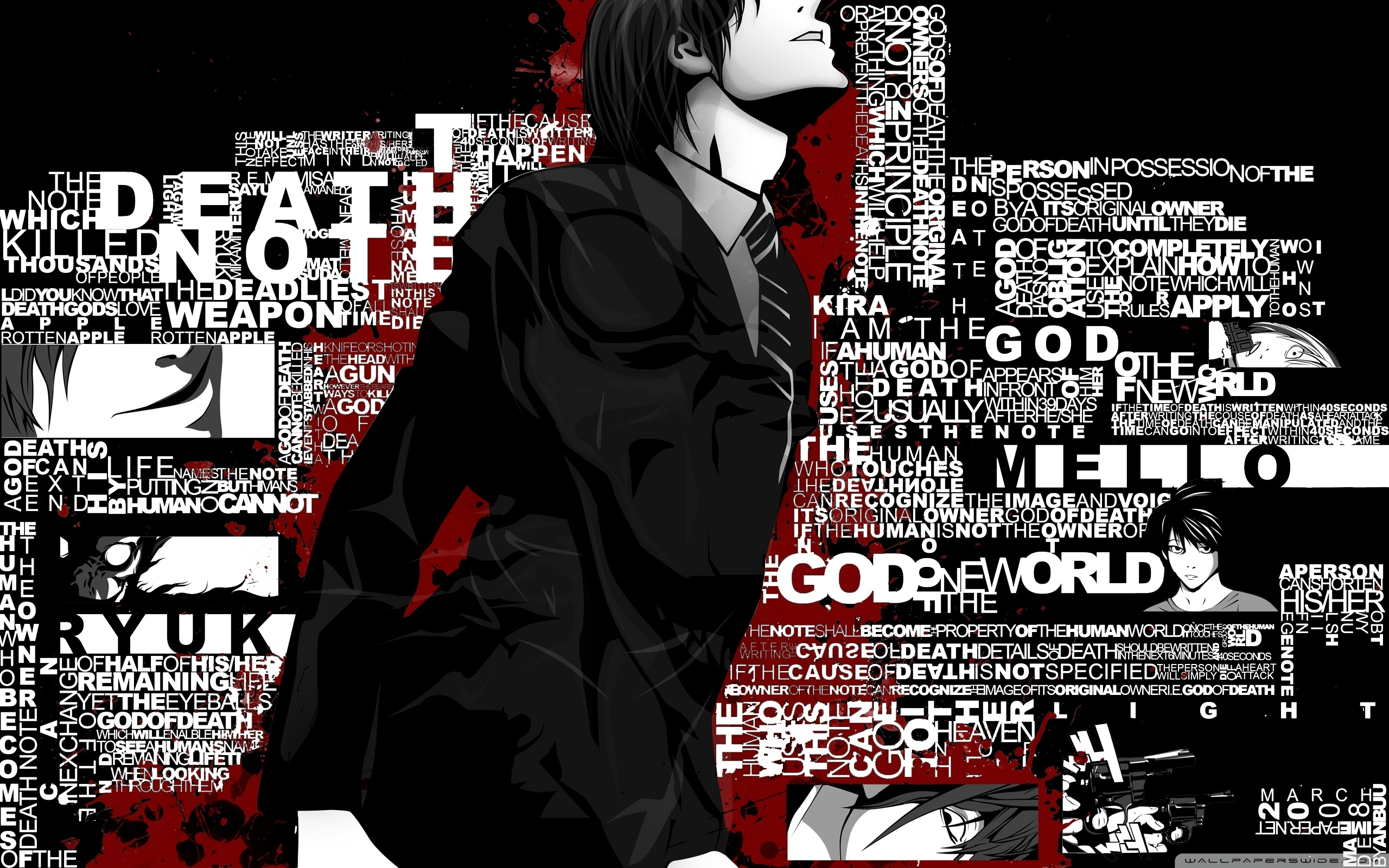 10 New Death Note L Backgrounds FULL HD 1080p For PC Background