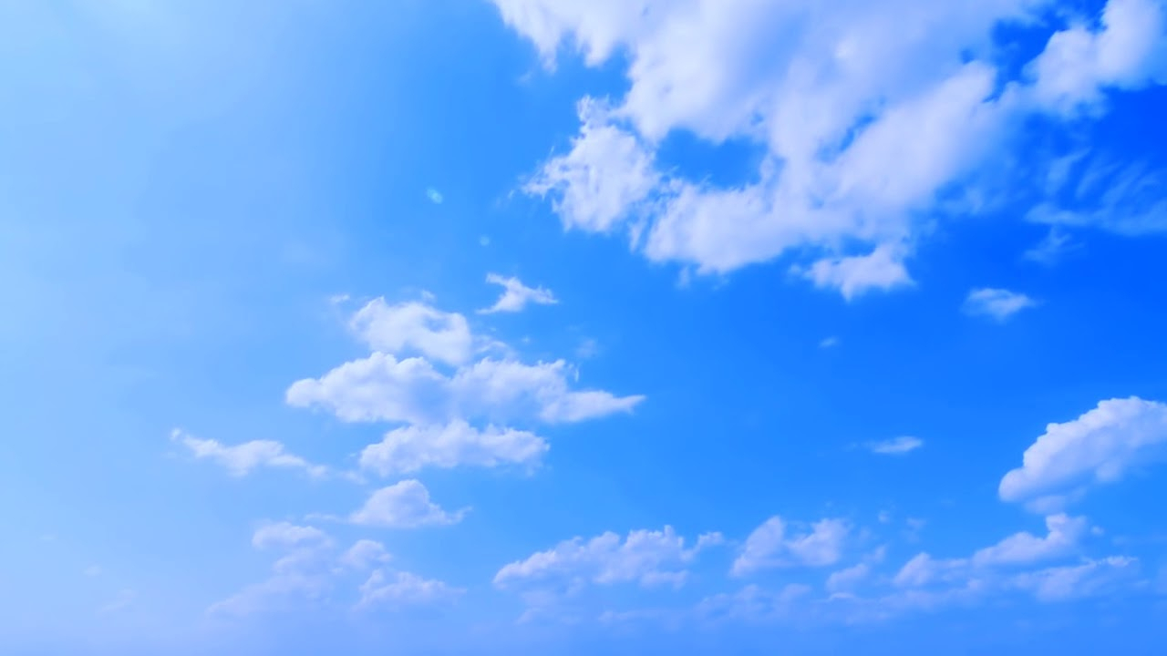 deep blue sky background. video footage. for green screen effects