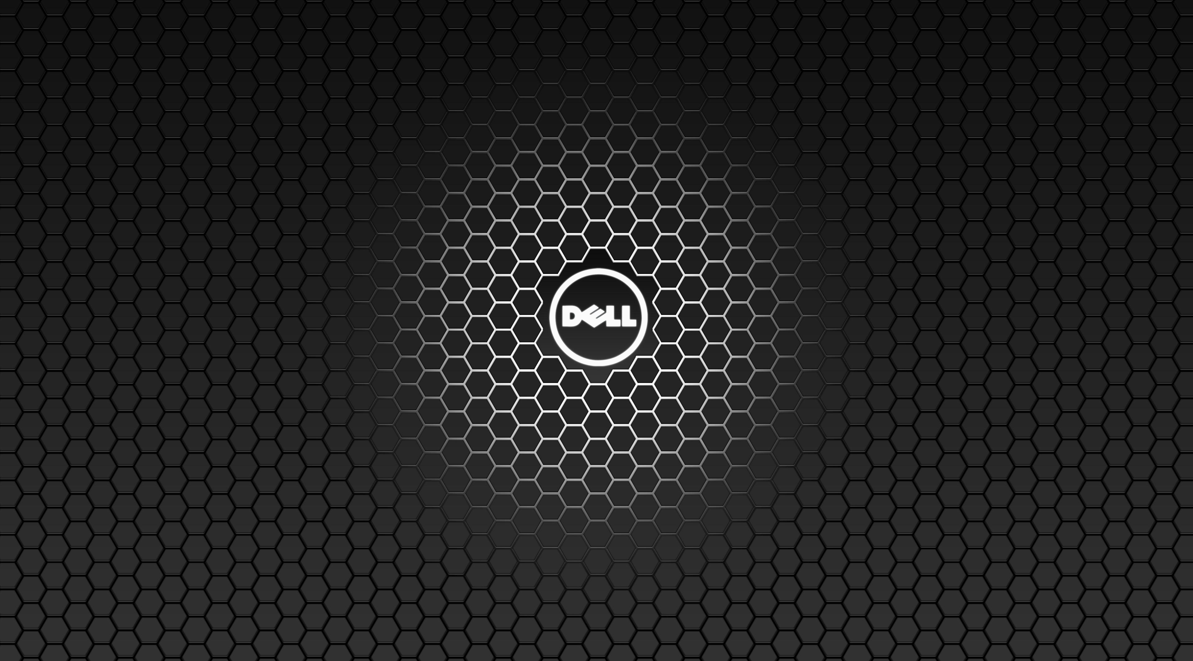 dell logo hexagonal carbon fiber pattern desktop wallpaper