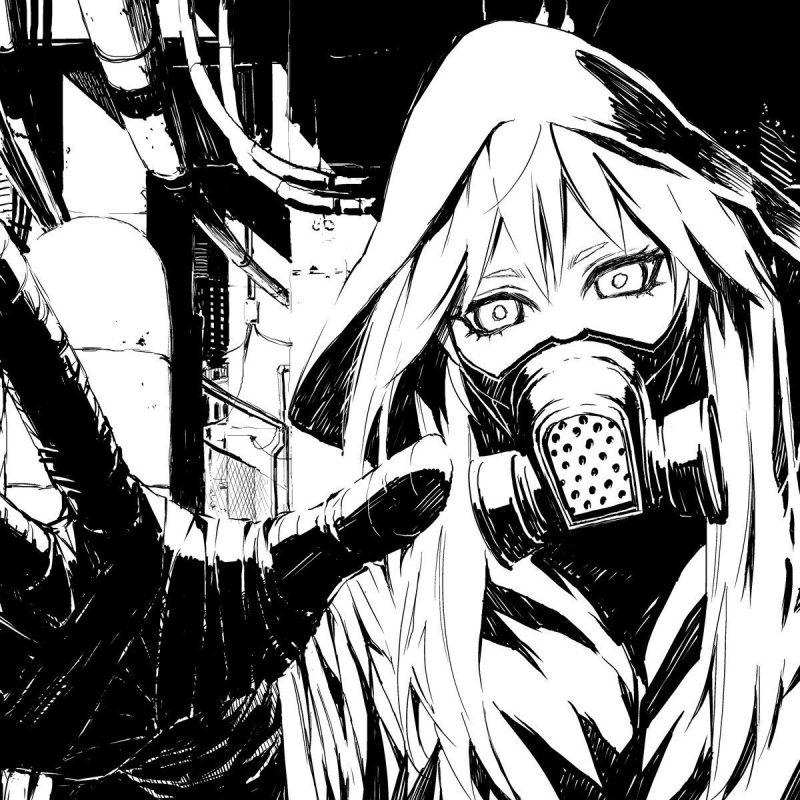 10 Most Popular Anime Wallpaper Black And White FULL HD 1080p For PC Desktop 2018 free download desktop black and white vocaloid gas masks drawings anime with 800x800