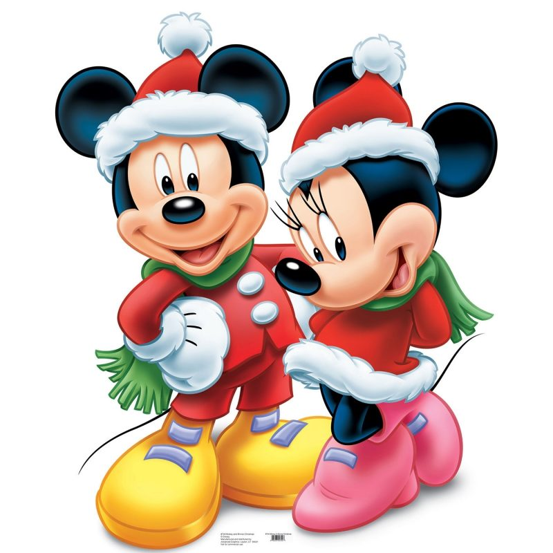 10 Latest Mickey Mouse Christmas Image FULL HD 1920×1080 For PC Background 2021 free download disney mickey minnie mouse christmas standup standee cardboard 800x800