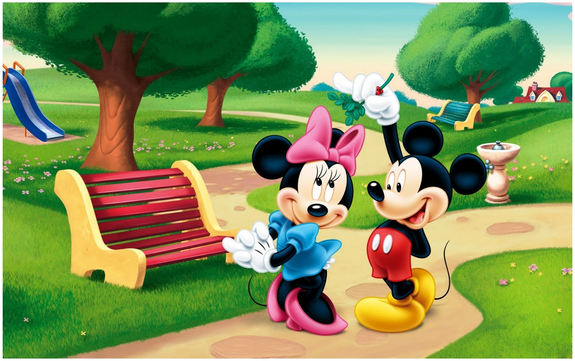 disney mickey mouse minnie mouse wallpaper - baltana