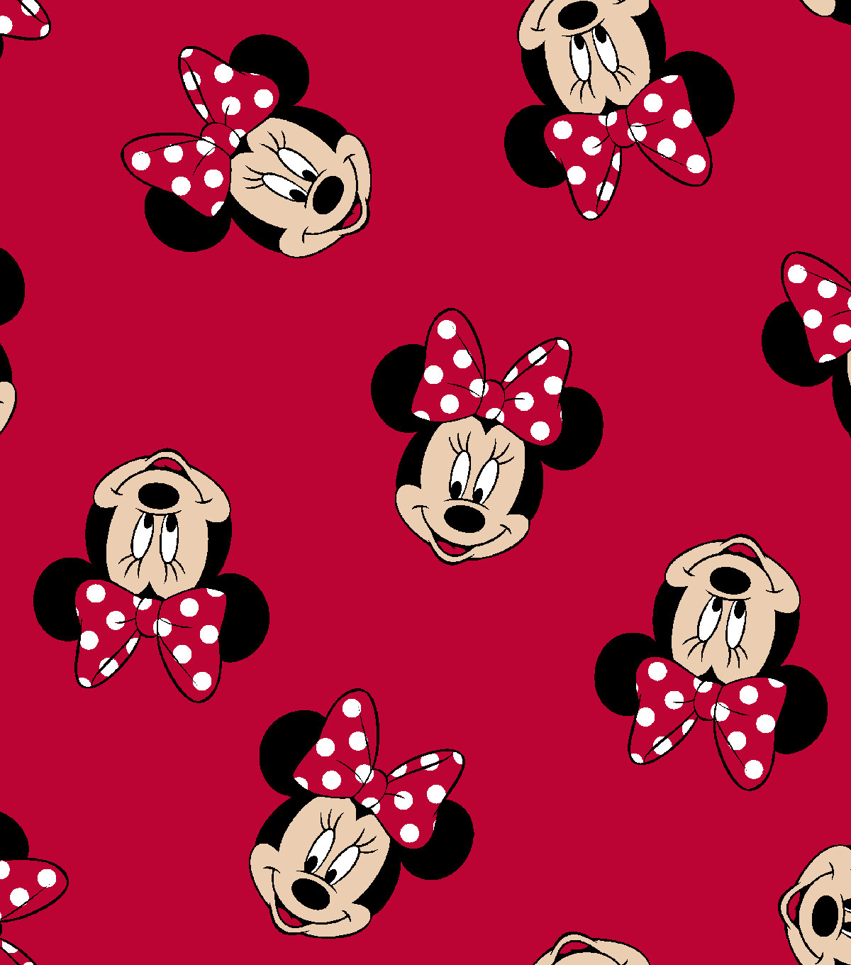 disney minnie mouse cotton fabric -tossed minnie heads | joann