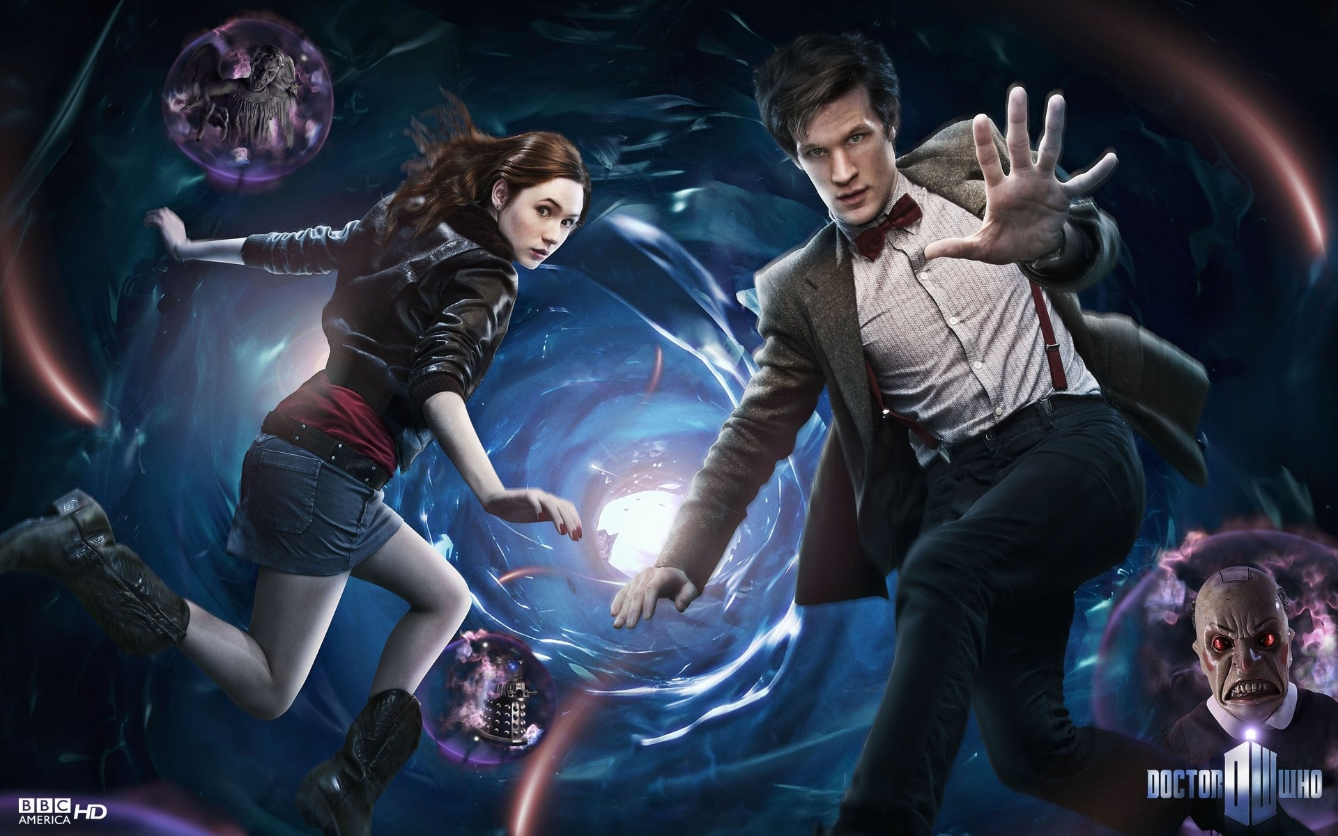 doctor who matt smith and amy pond - walldevil