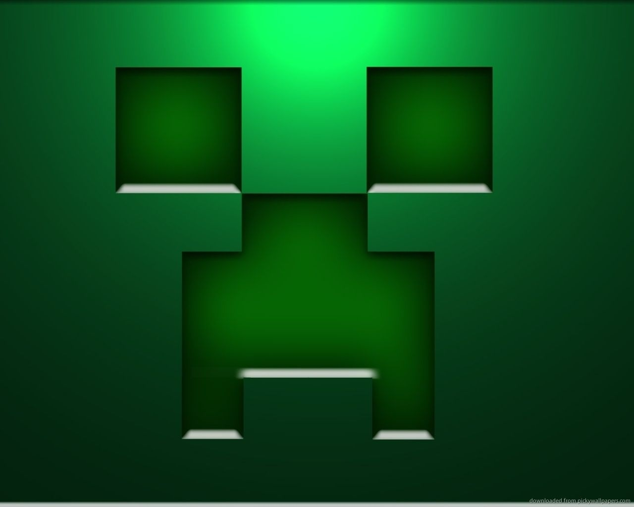 download 1280x1024 minecraft creeper face wallpaper | download