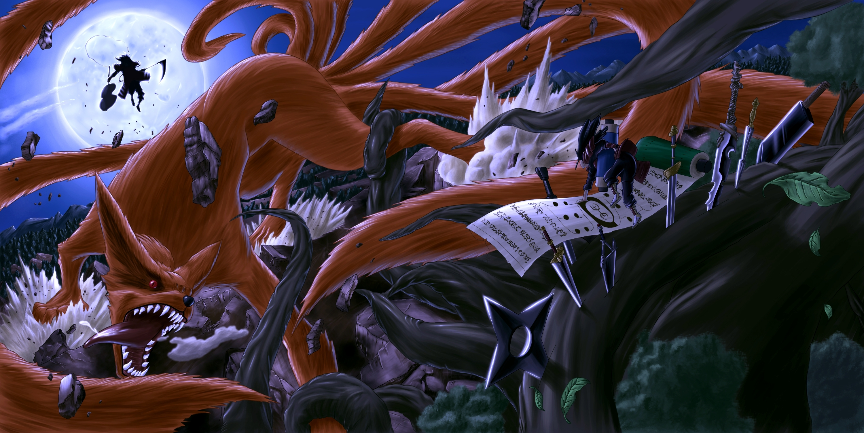 download colo naruto madara vs shodaivinc wallpaper | full hd