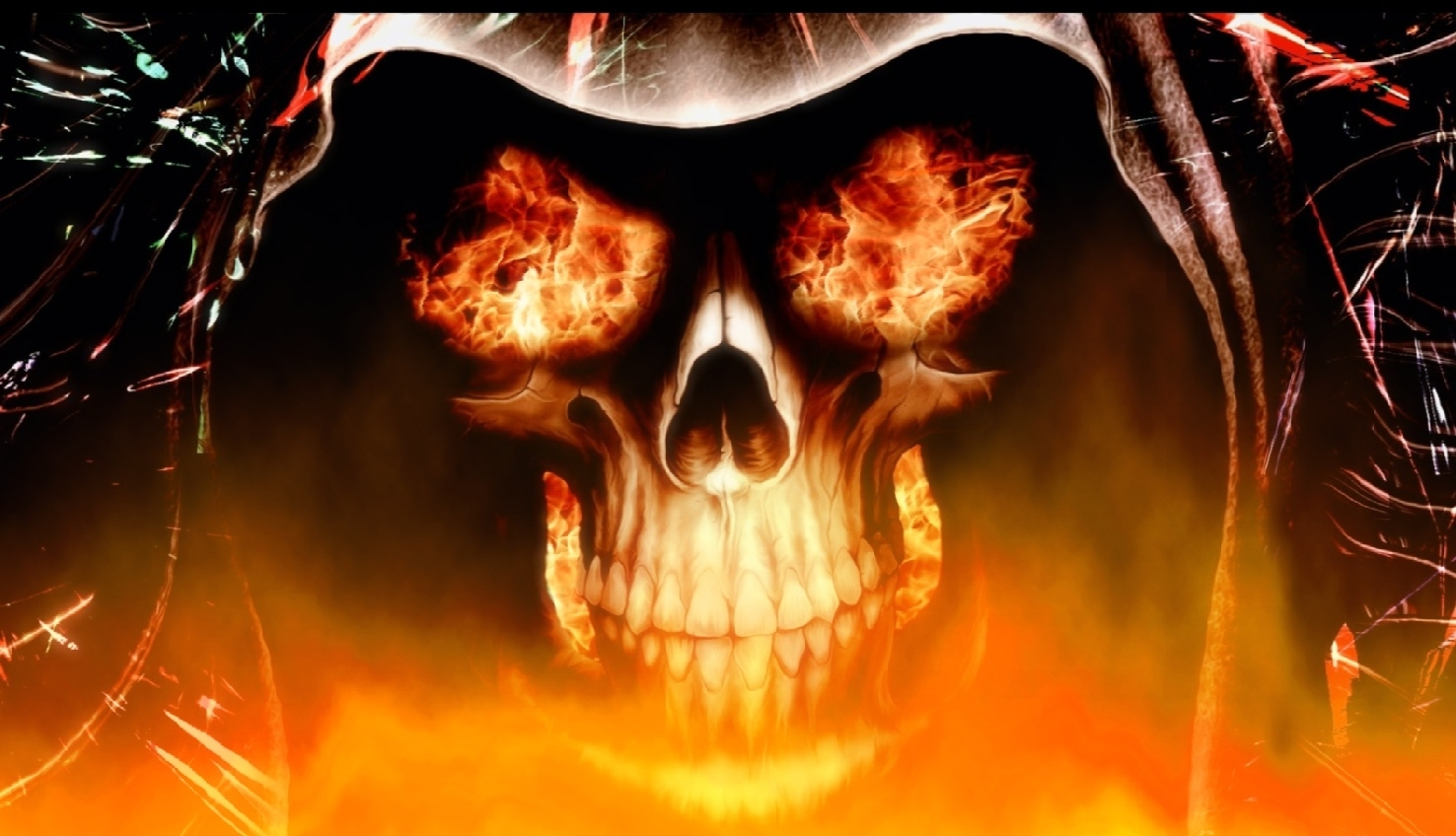 download fire skull animated wallpaper | desktopanimated