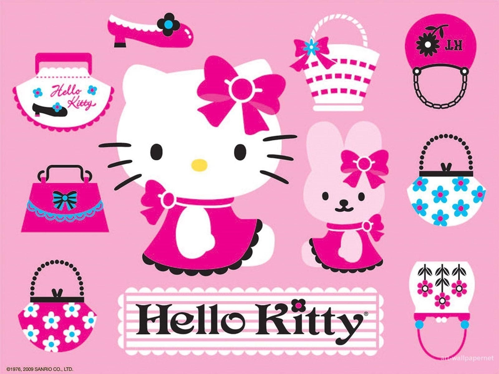 download hello kitty poster art free wallpapers 1600x1200 | hello