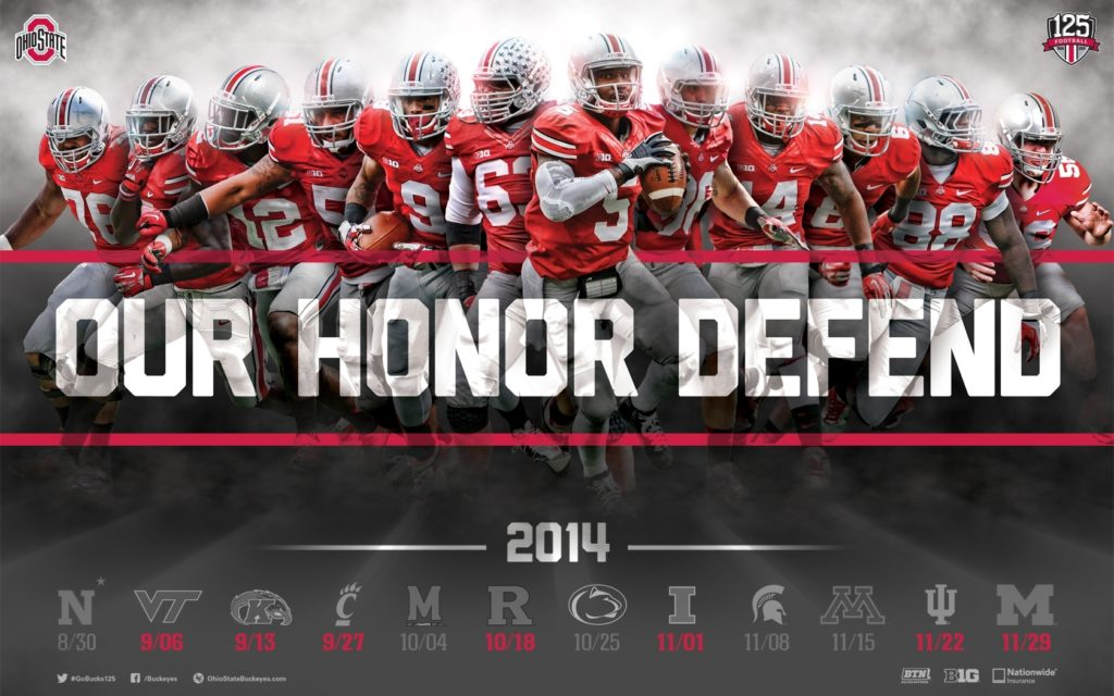 10 Latest Ohio State Buckeyes Football Wallpaper FULL HD 1080p For PC Background 2020 free download download the ohio state football 2014 schedule poster for printing 1024x640