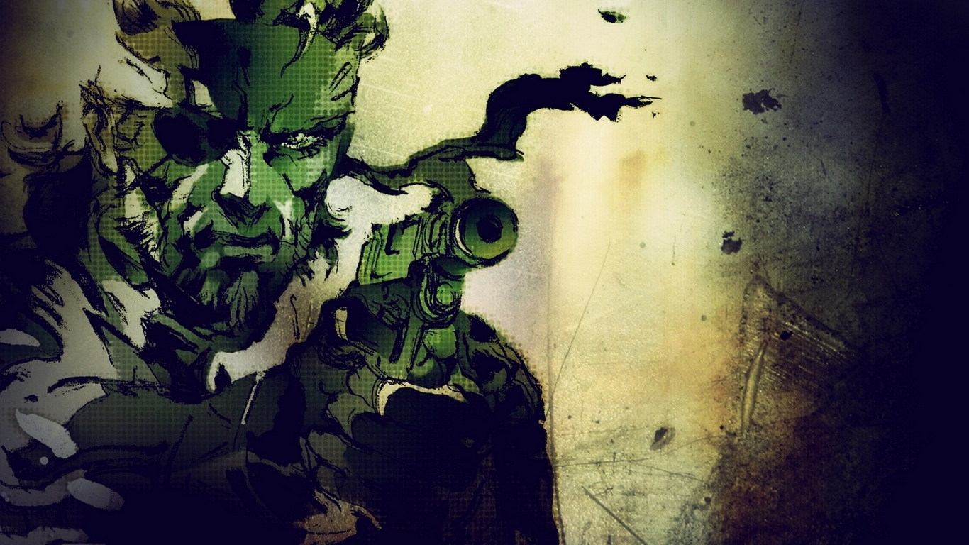 download wallpaper 1366x768 metal gear solid, stealth-action, sony