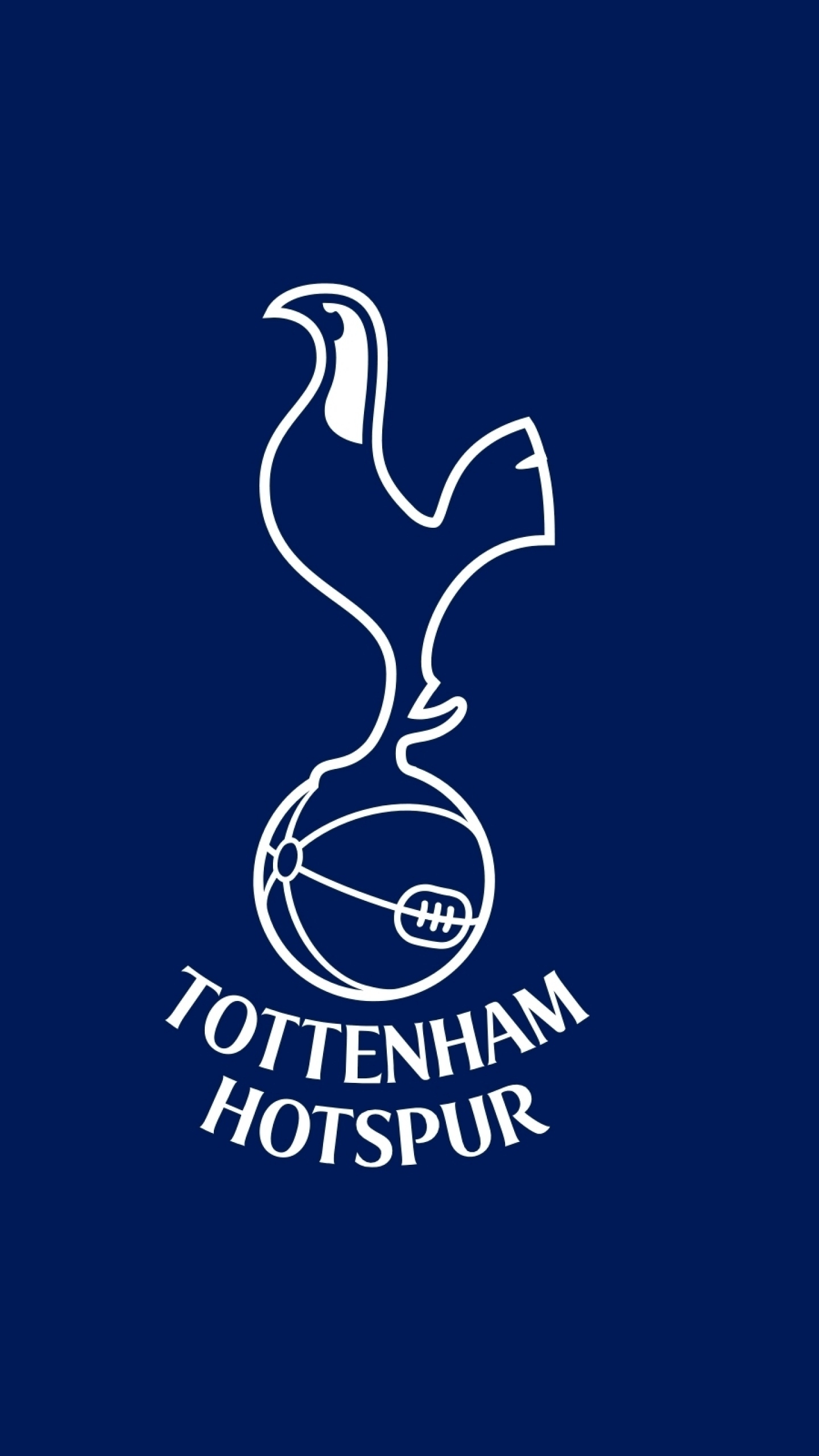 download wallpaper 1440x2560 tottenham hotspur, football, logo