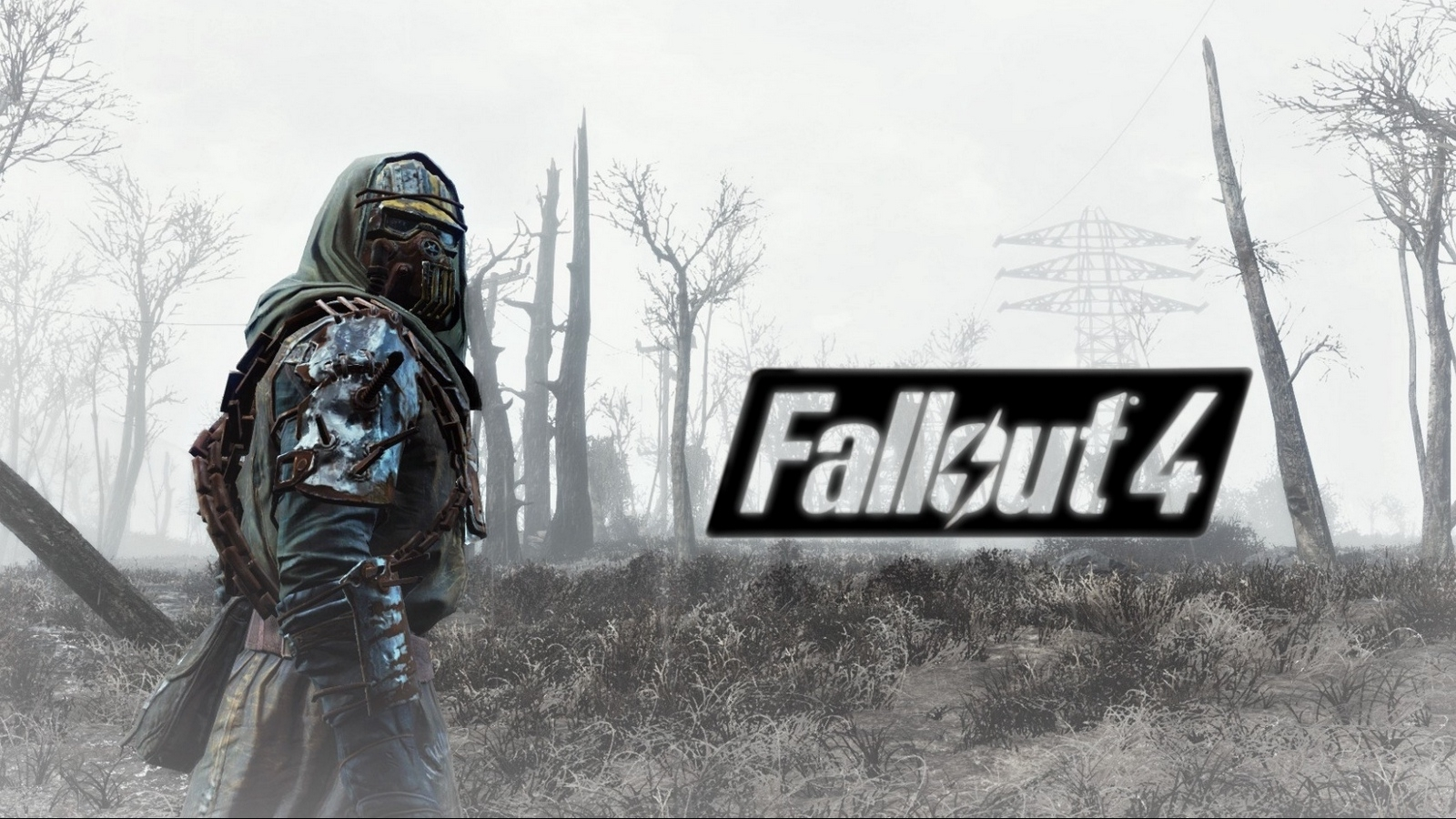 download wallpaper 1600x900 fallout 4, armor, soldier, field