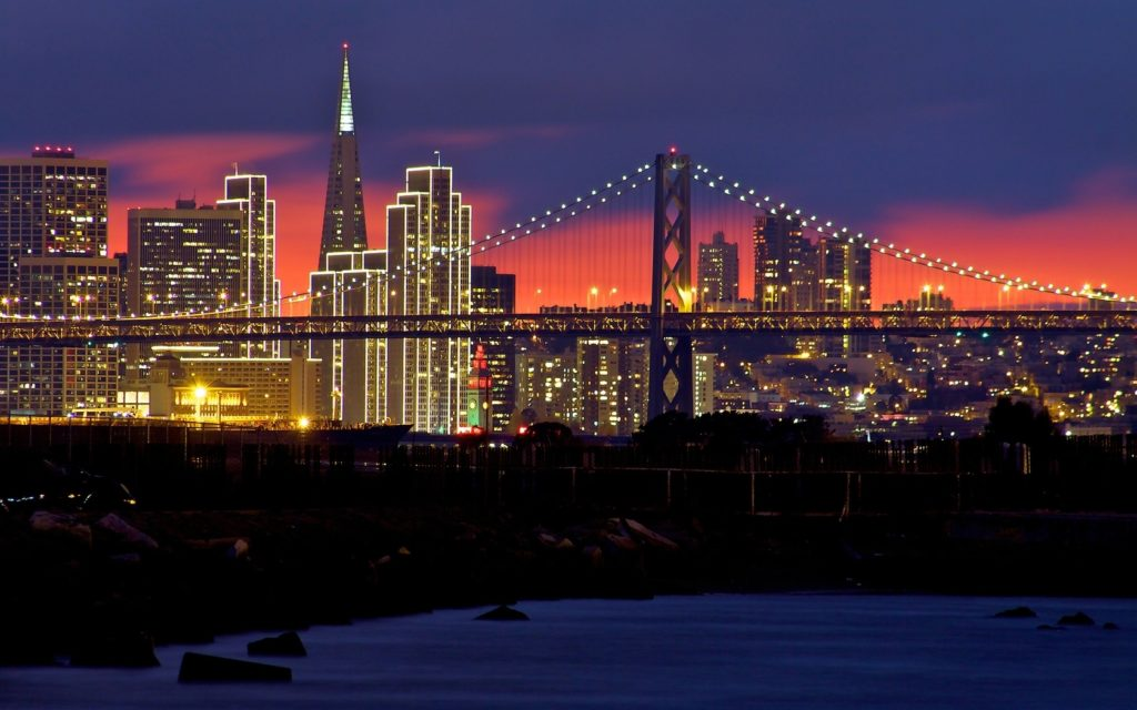 10 Most Popular San Francisco Night Wallpaper FULL HD 1920×1080 For PC Desktop 2018 free download download wallpaper 1680x1050 usa san francisco sunset night 1 1024x640