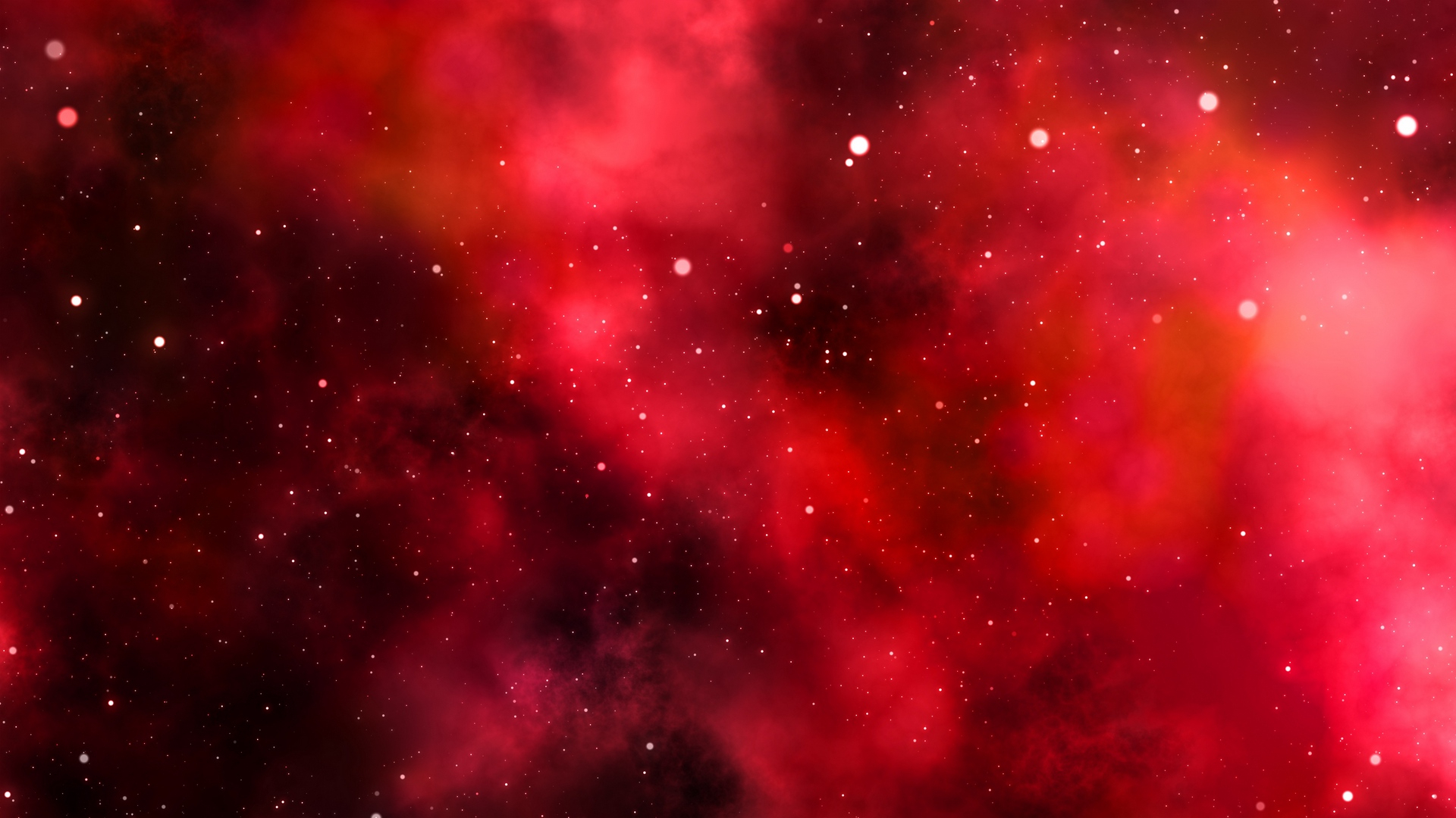 download wallpaper 1920x1080 galaxy, space, red, shine, universe