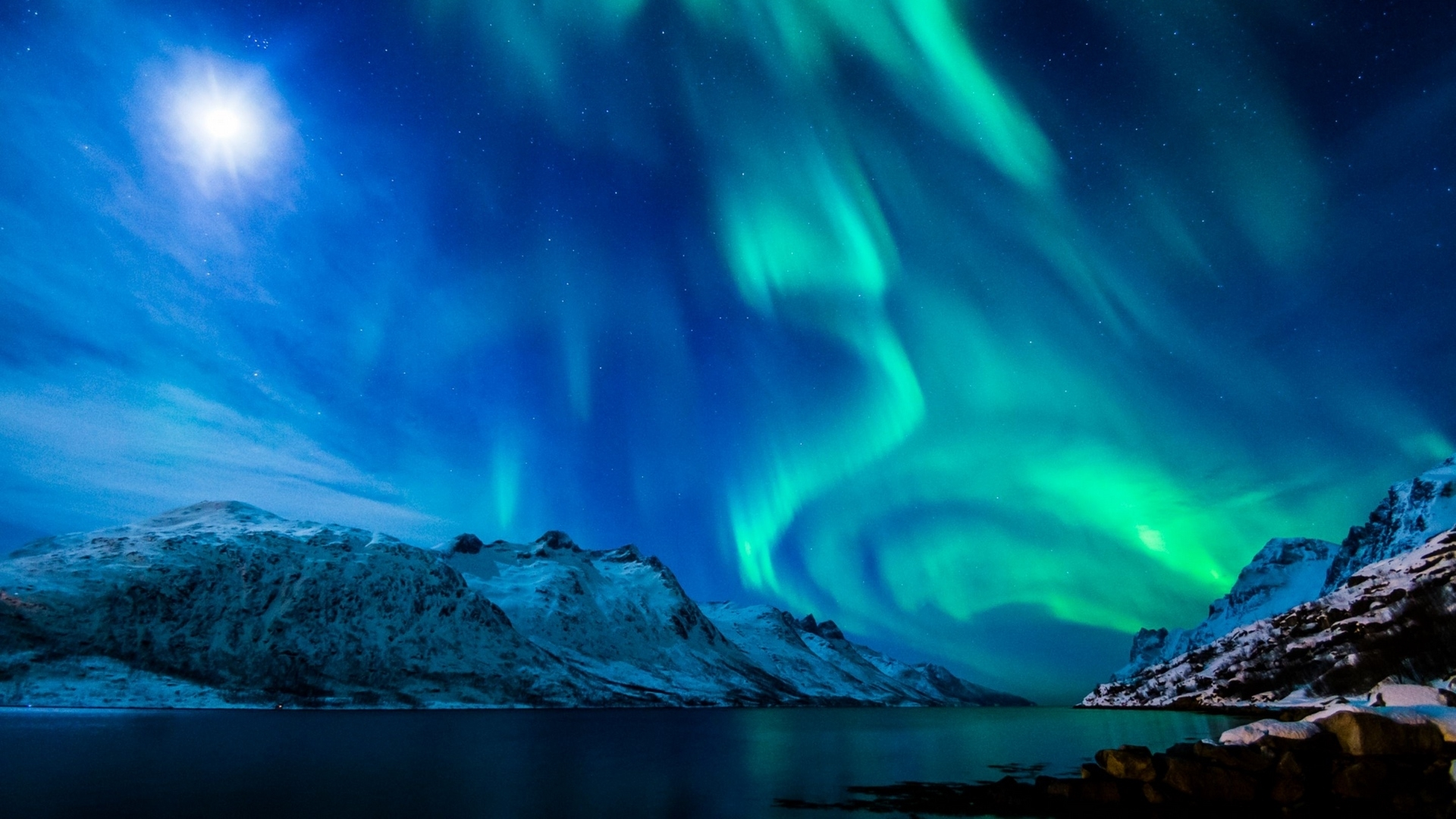 download wallpaper 1920x1080 northern lights, aurora borealis, uk