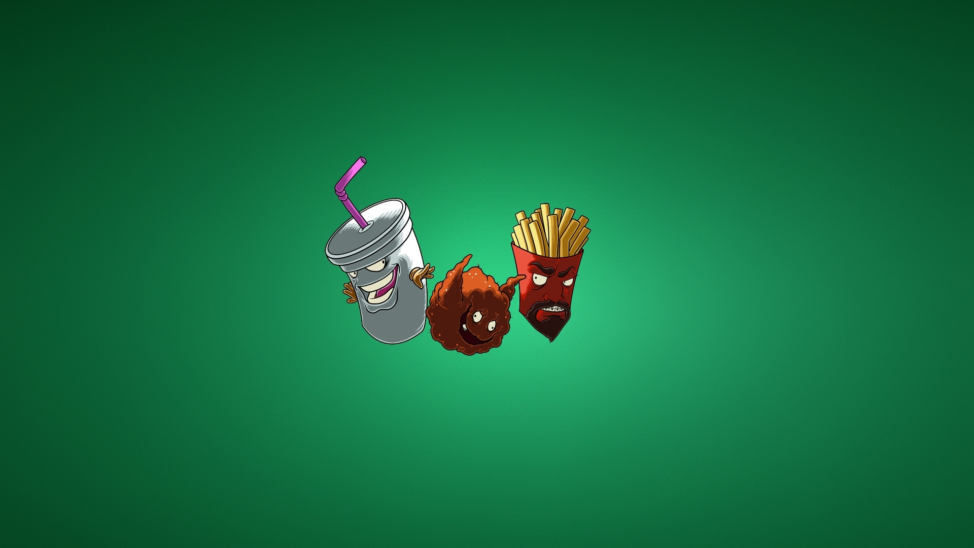 download wallpaper frylock, the fries, meatwad, milkshake