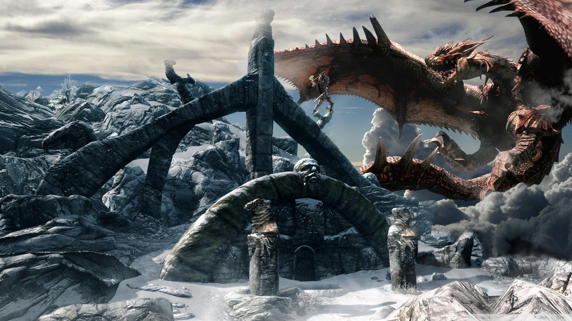 dragon warrior skyrim ❤ 4k hd desktop wallpaper for 4k ultra hd