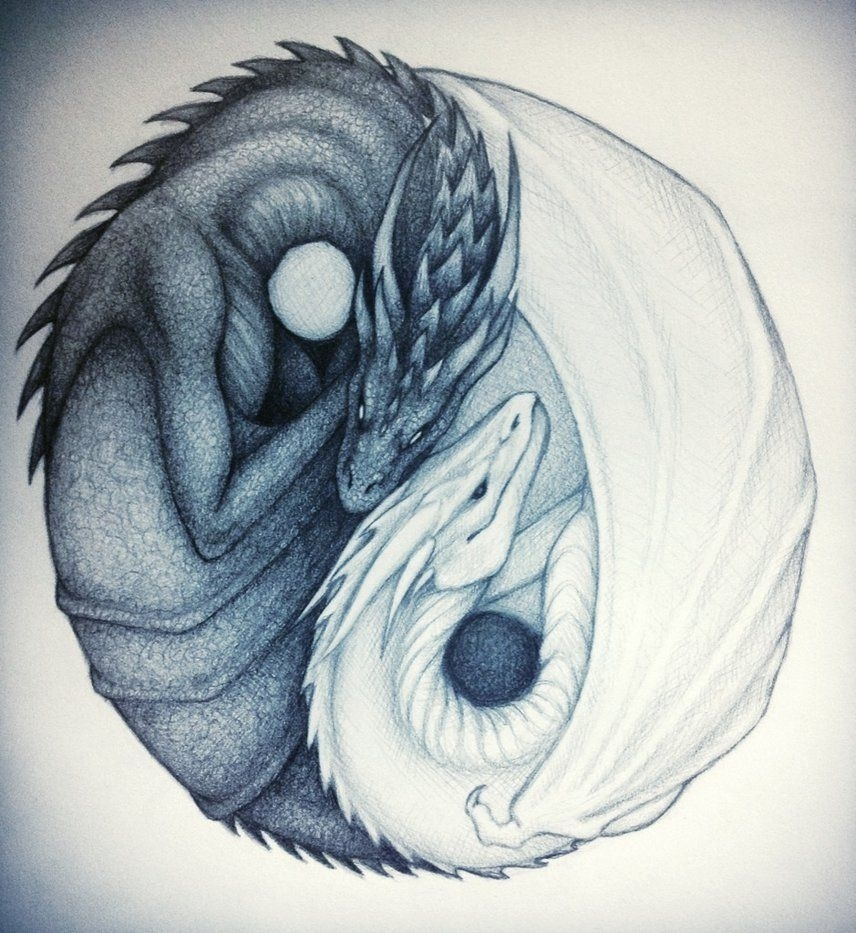 dragon yin yang | yin and yang dragonstaylovestwilight on