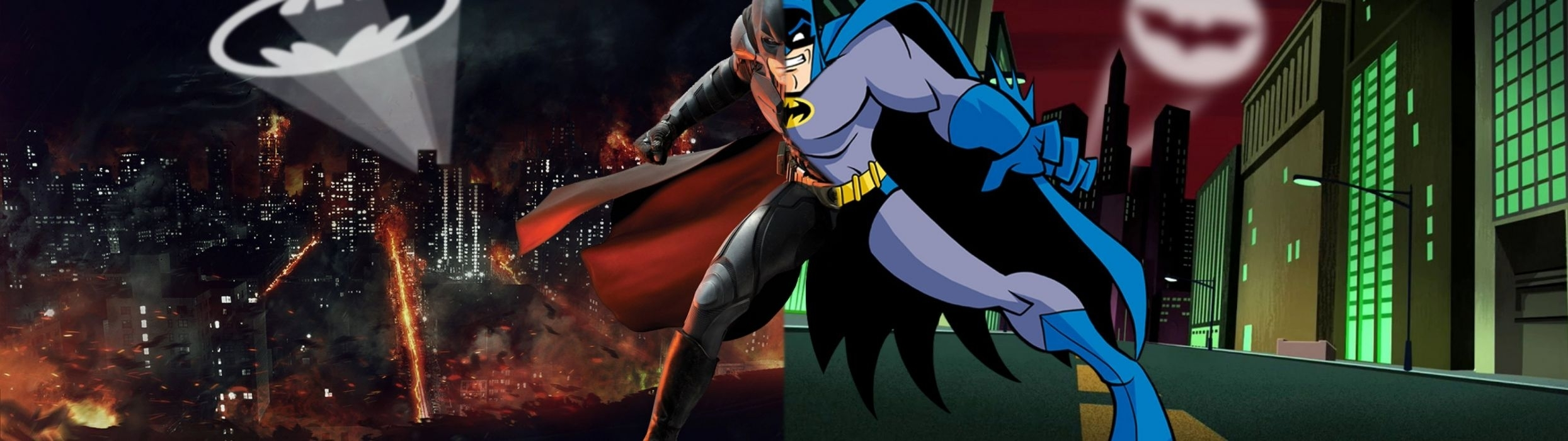 dual monitor screen batman comics ha wallpaper | 3840x1080 | 514374