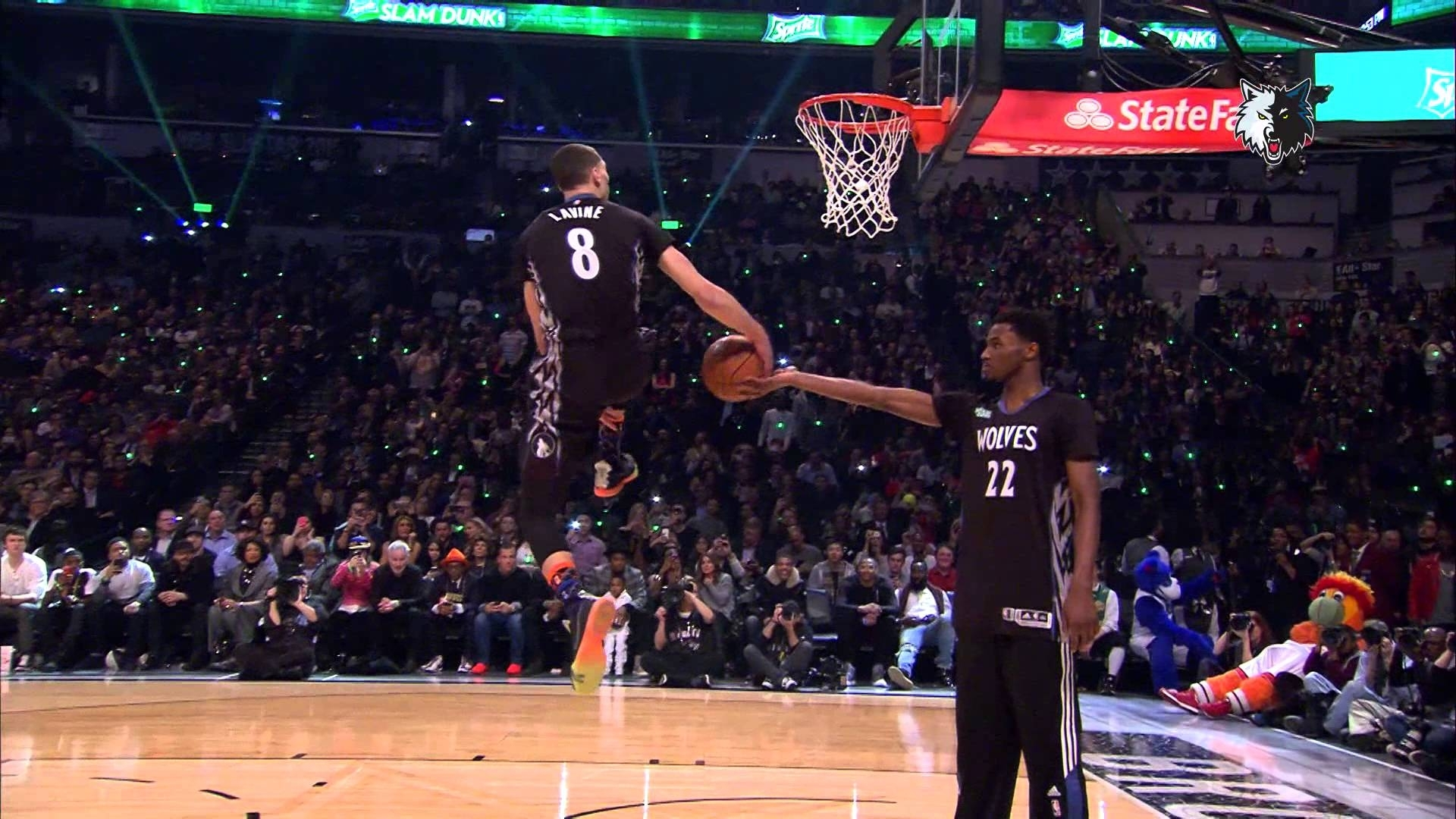 dunk contest behind the scenes | zach lavine - youtube