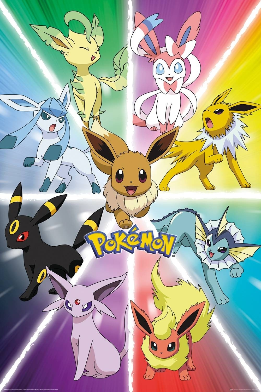 eevee evolution maxi poster