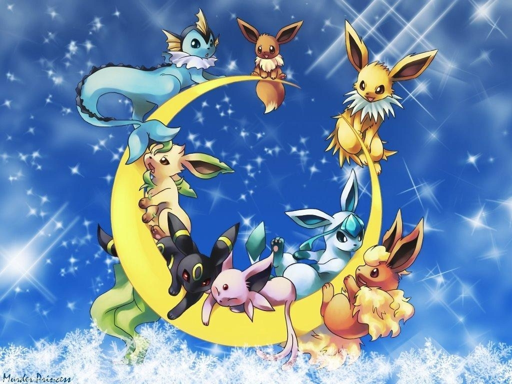 eevee evolutions wallpaper group (70+)