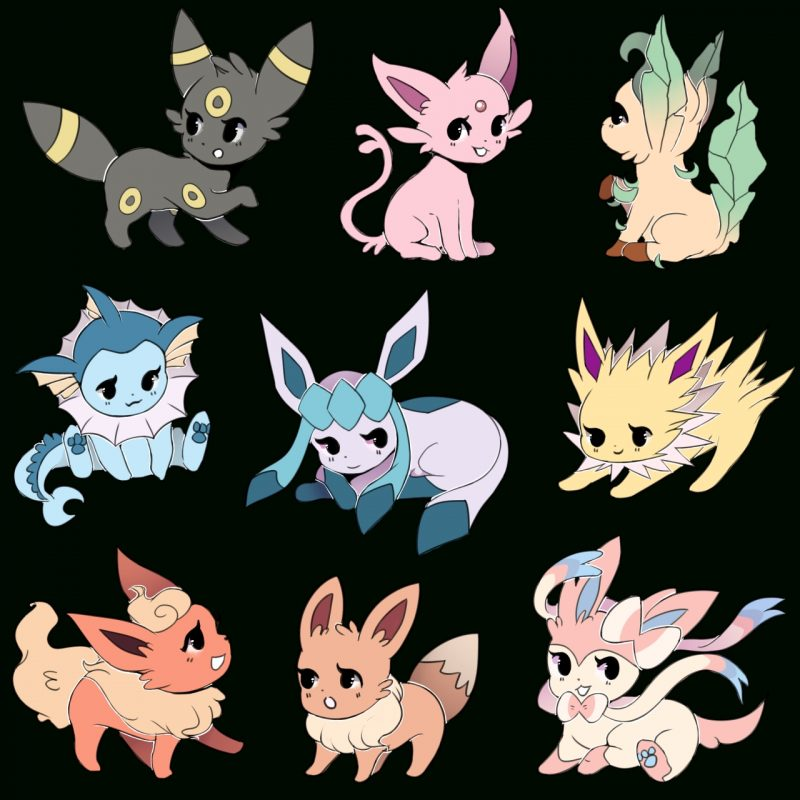 10 Best Pictures Of Eevee Evolutions FULL HD 1080p For PC Background 2018 free download eeveelution fan photo eeveelutions pinterest fans pokemon 800x800