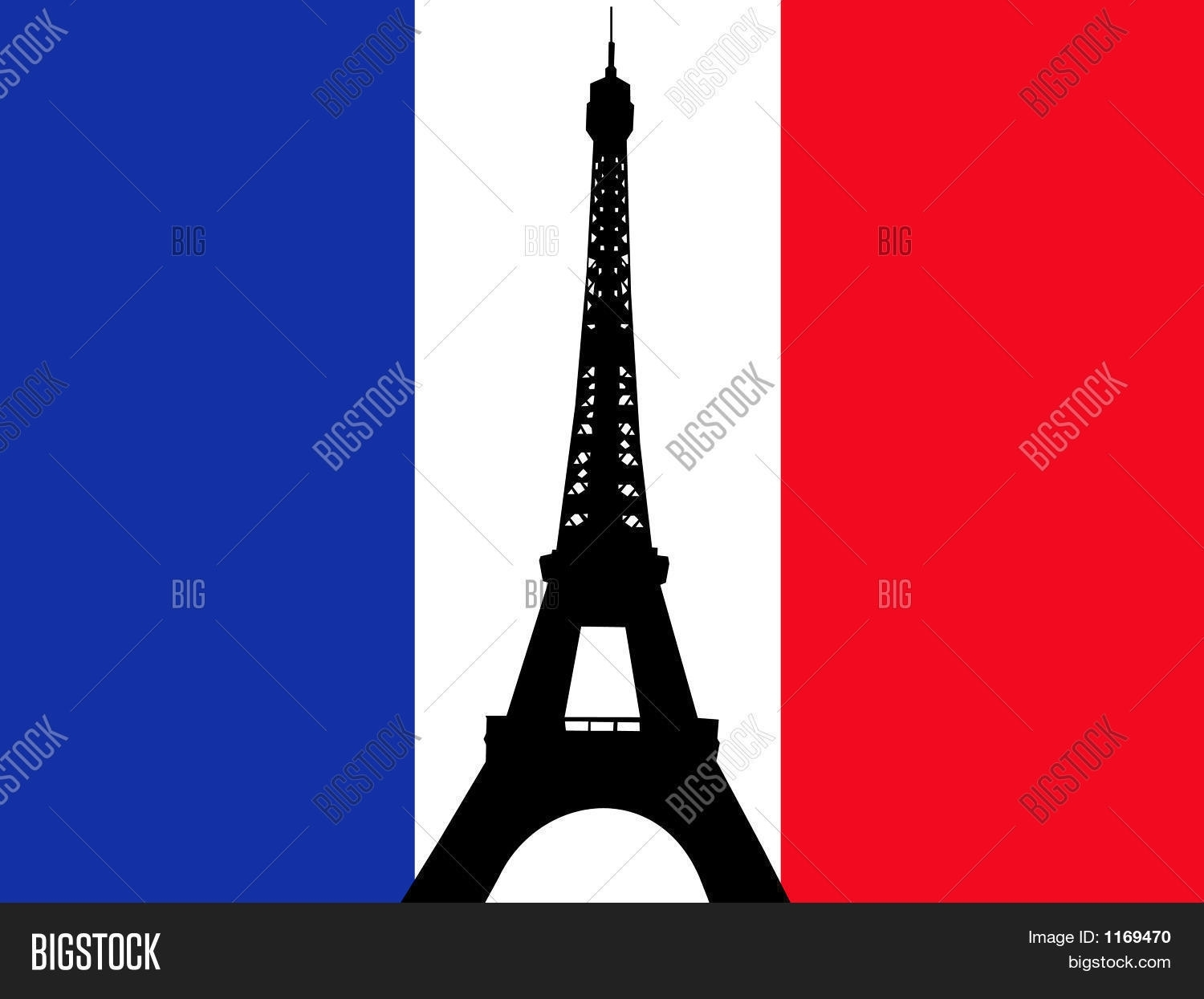 eiffel tower french flag image & photo | bigstock