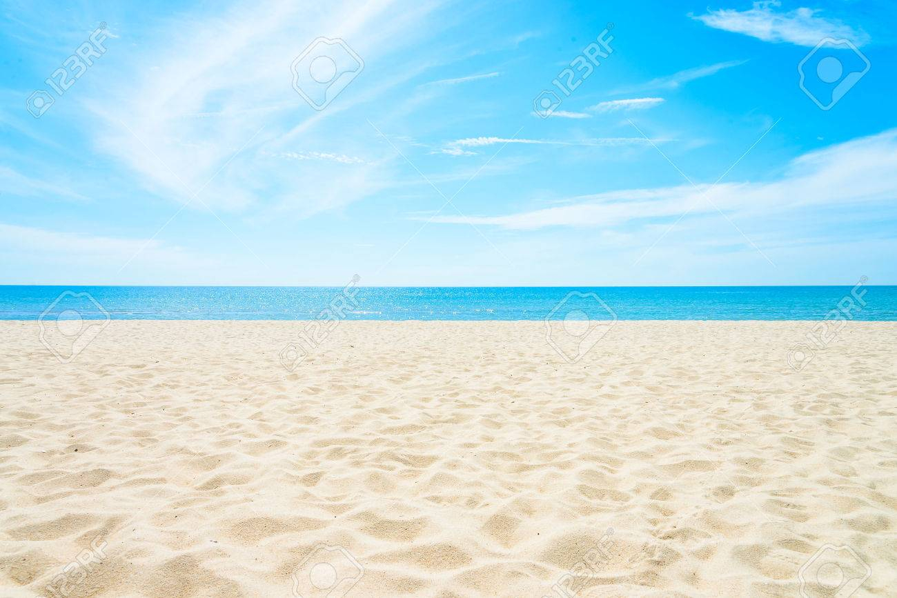empty sea and beach background with copy space stock photo, picture