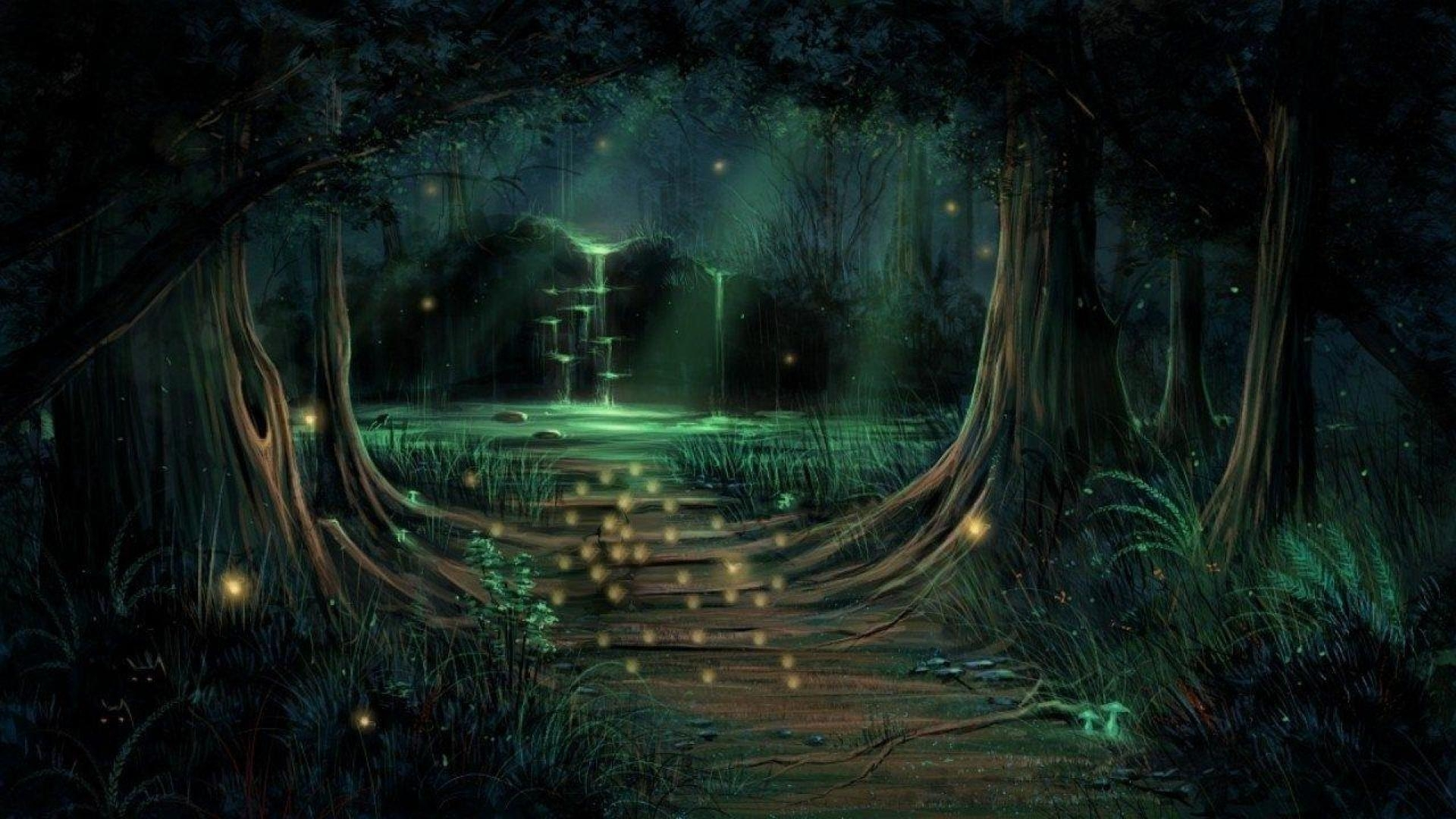 enchanted forest wallpaper - this wallpaper