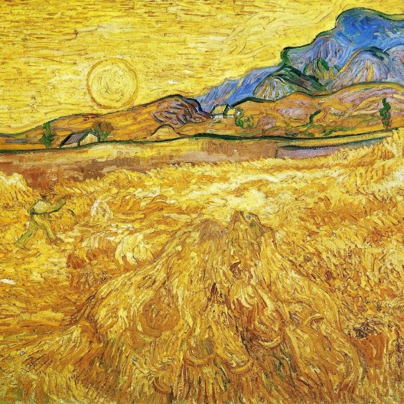 10 Most Popular Van Gogh Painting Wallpaper FULL HD 1920×1080 For PC Desktop 2020 free download enclosed field with reaper vincent van gogh paintings wallpaper 800x800