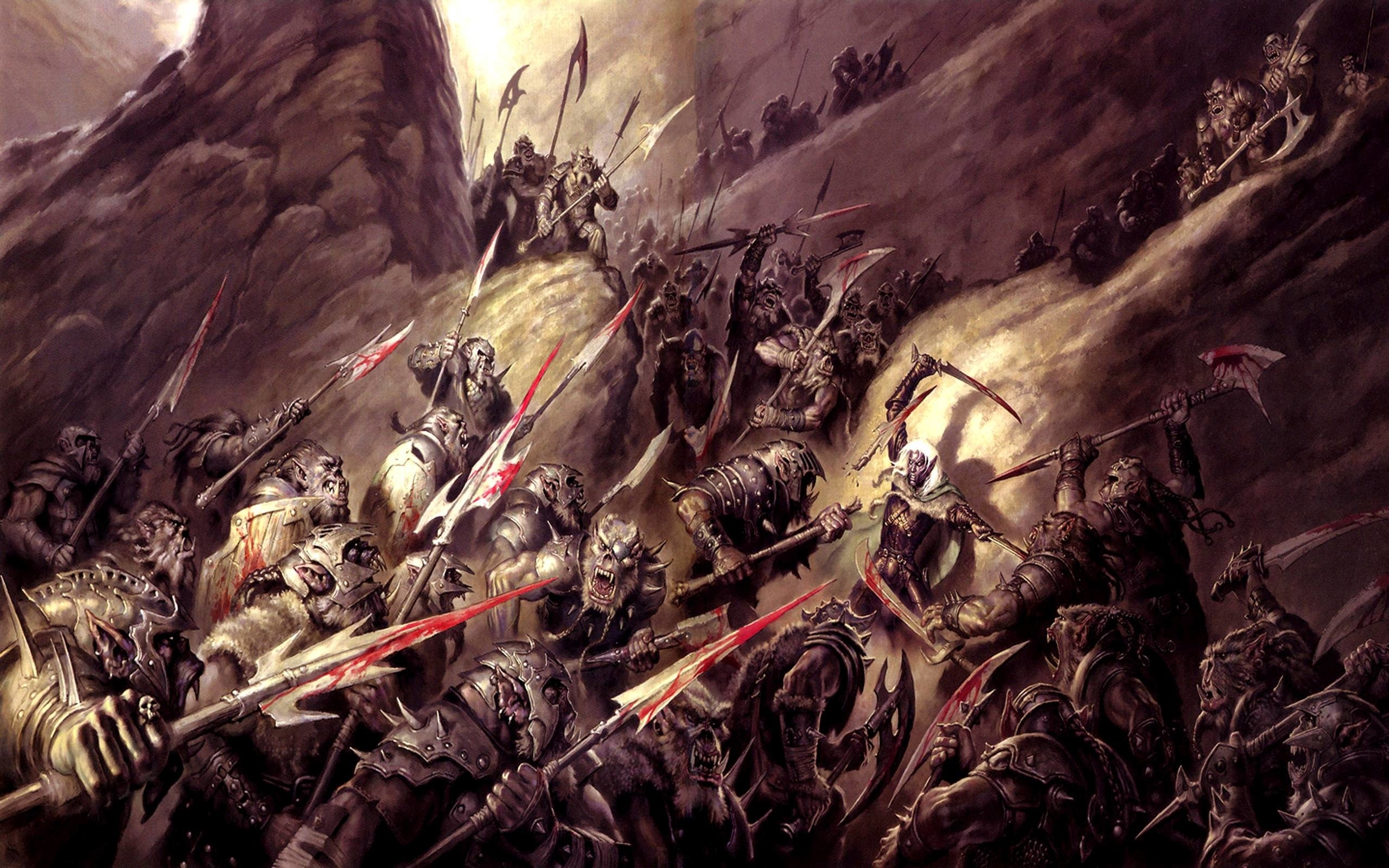 epic fantasy war wallpaper ·①