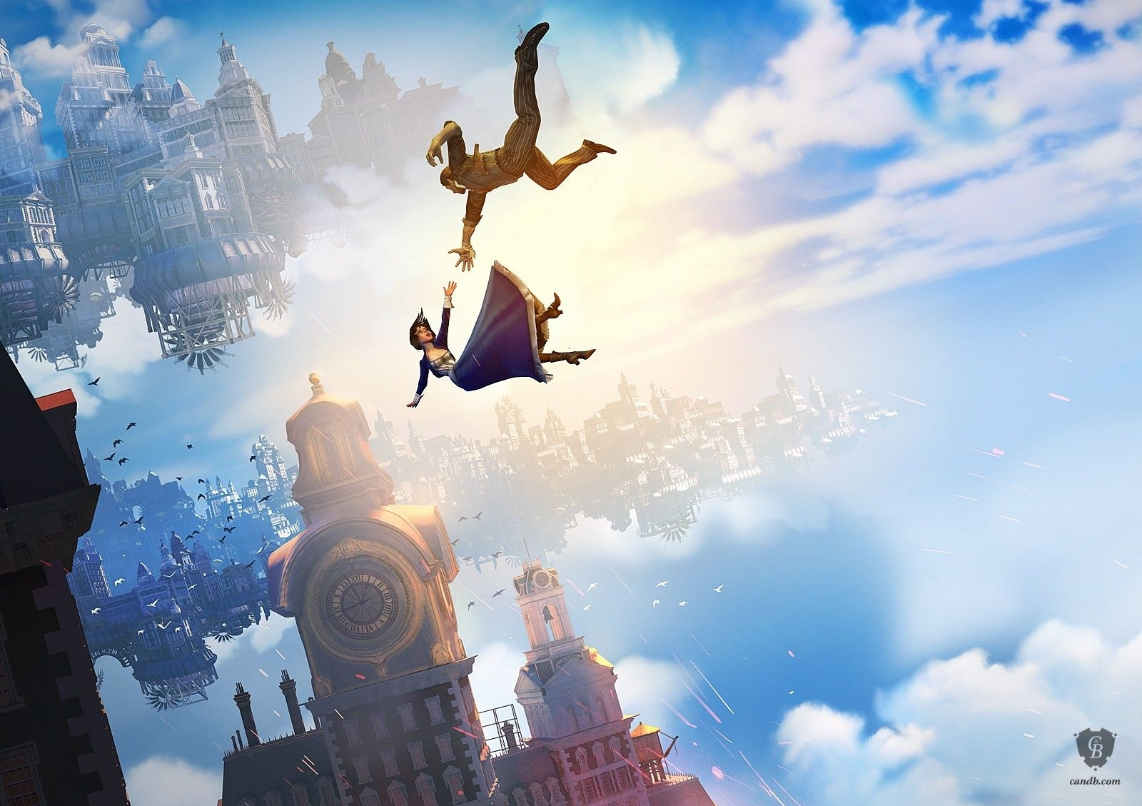 falling - bioshock infinite - falling is part of the official