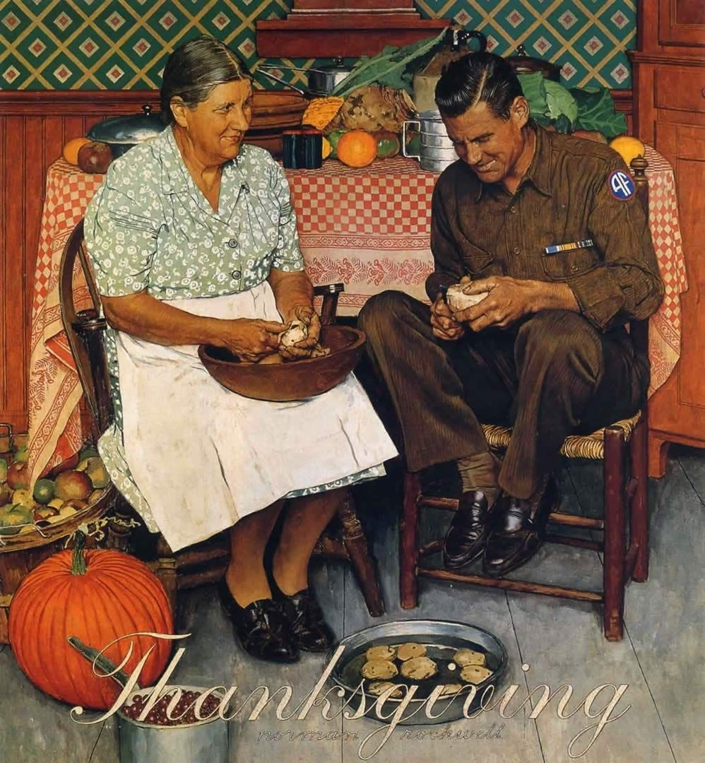 famous thanksgiving paintings images | thanksgiving mother and son