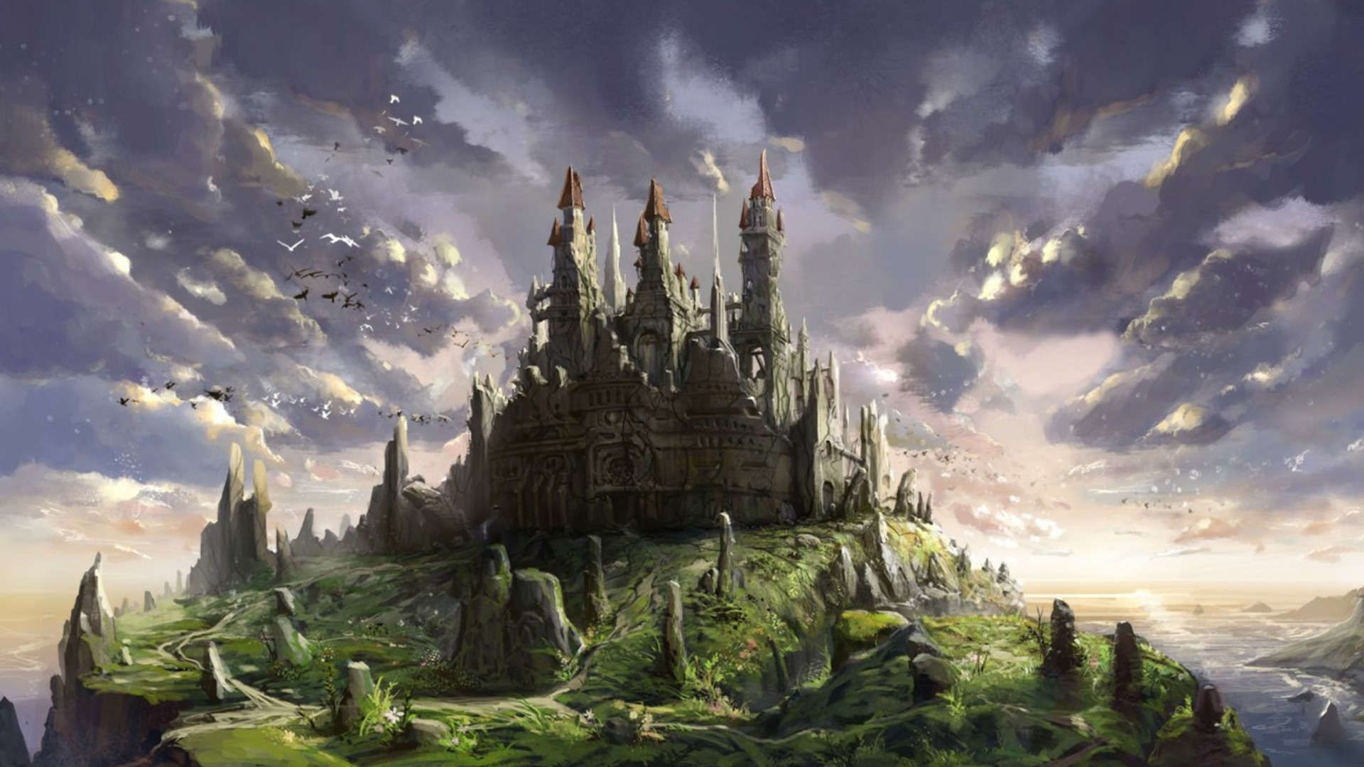 fantasy castle 1080p wallpapers hd resolution wallpaper 1920x1080 px